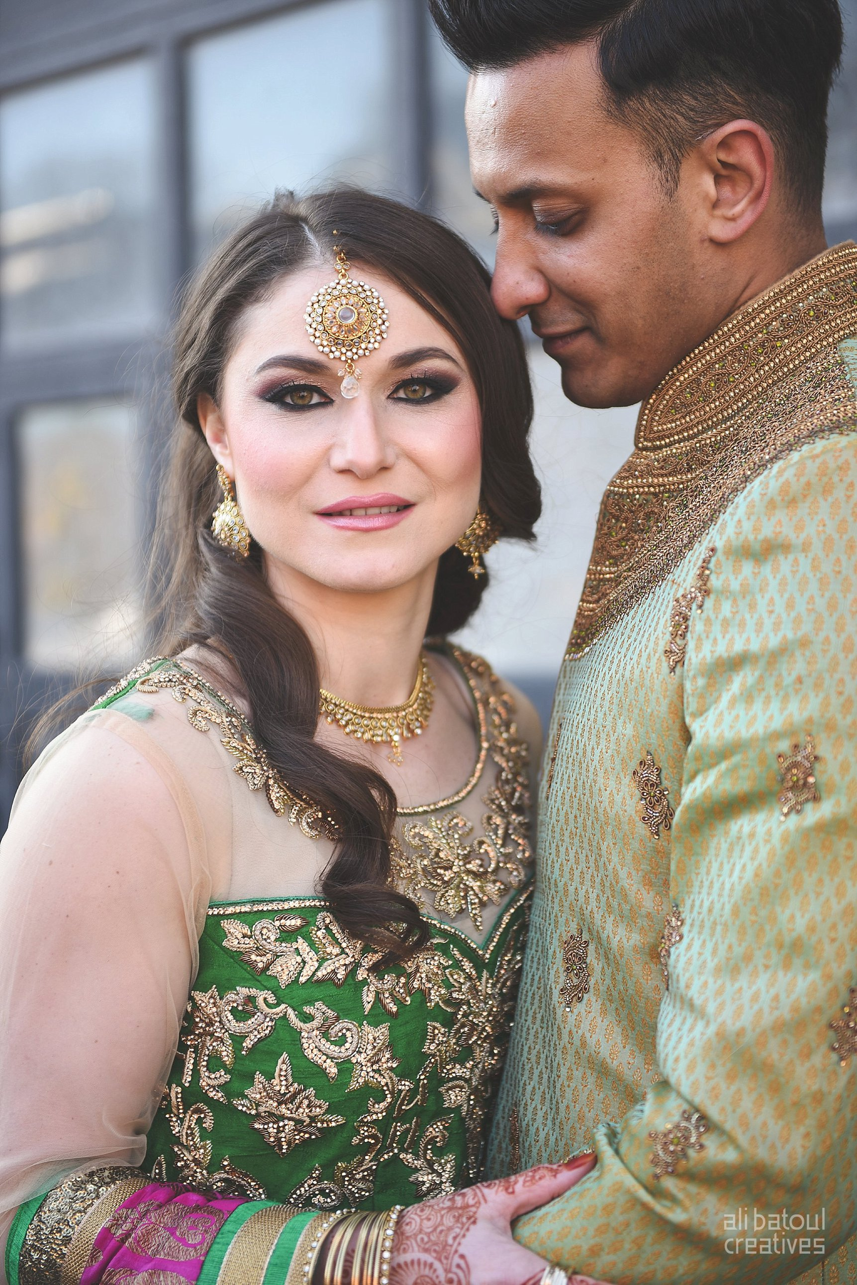 Indian-inspired bridal shoot - Ali Batoul Creatives-168_Green_Red Dress (BTS)