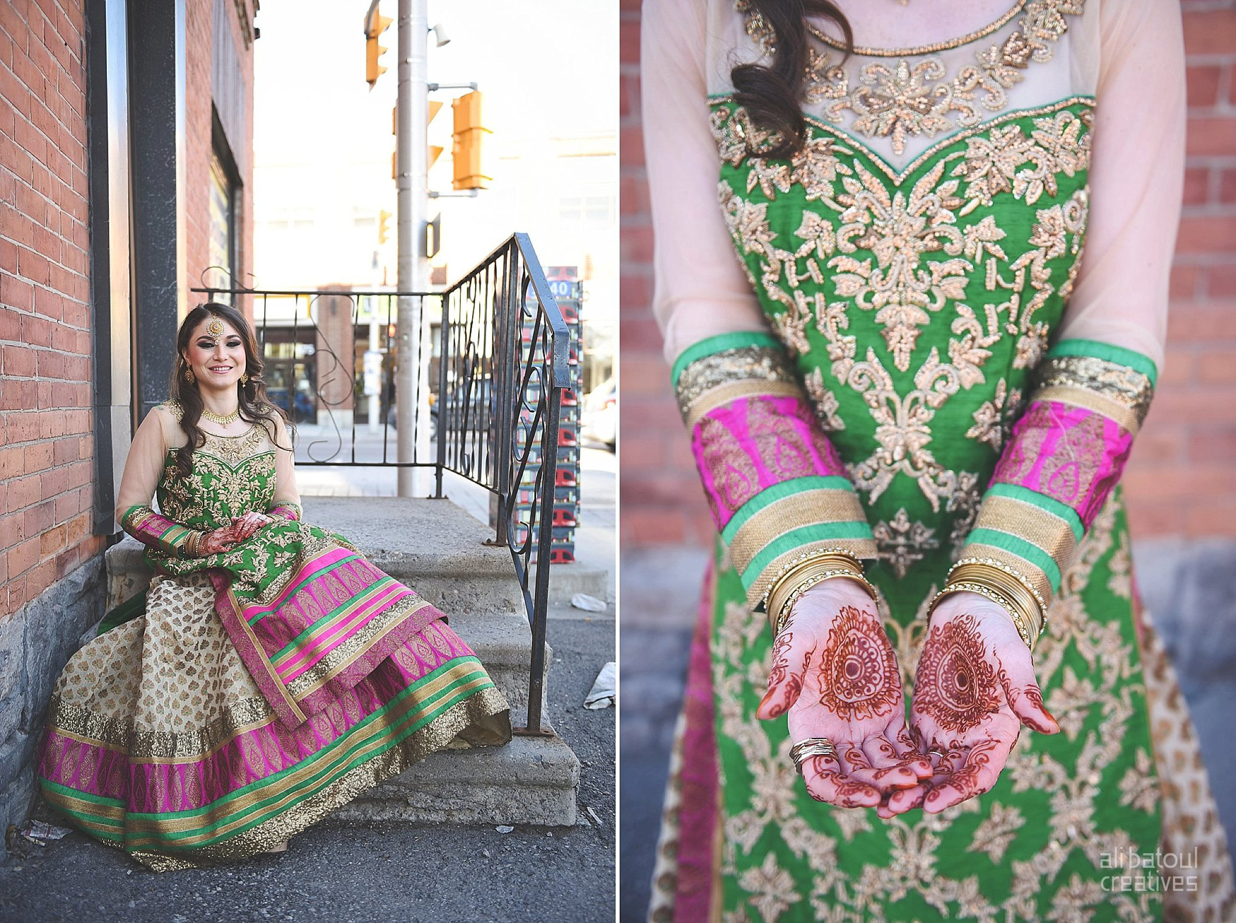 Indian-inspired bridal shoot - Ali Batoul Creatives-195_Green_Red Dress (BTS)