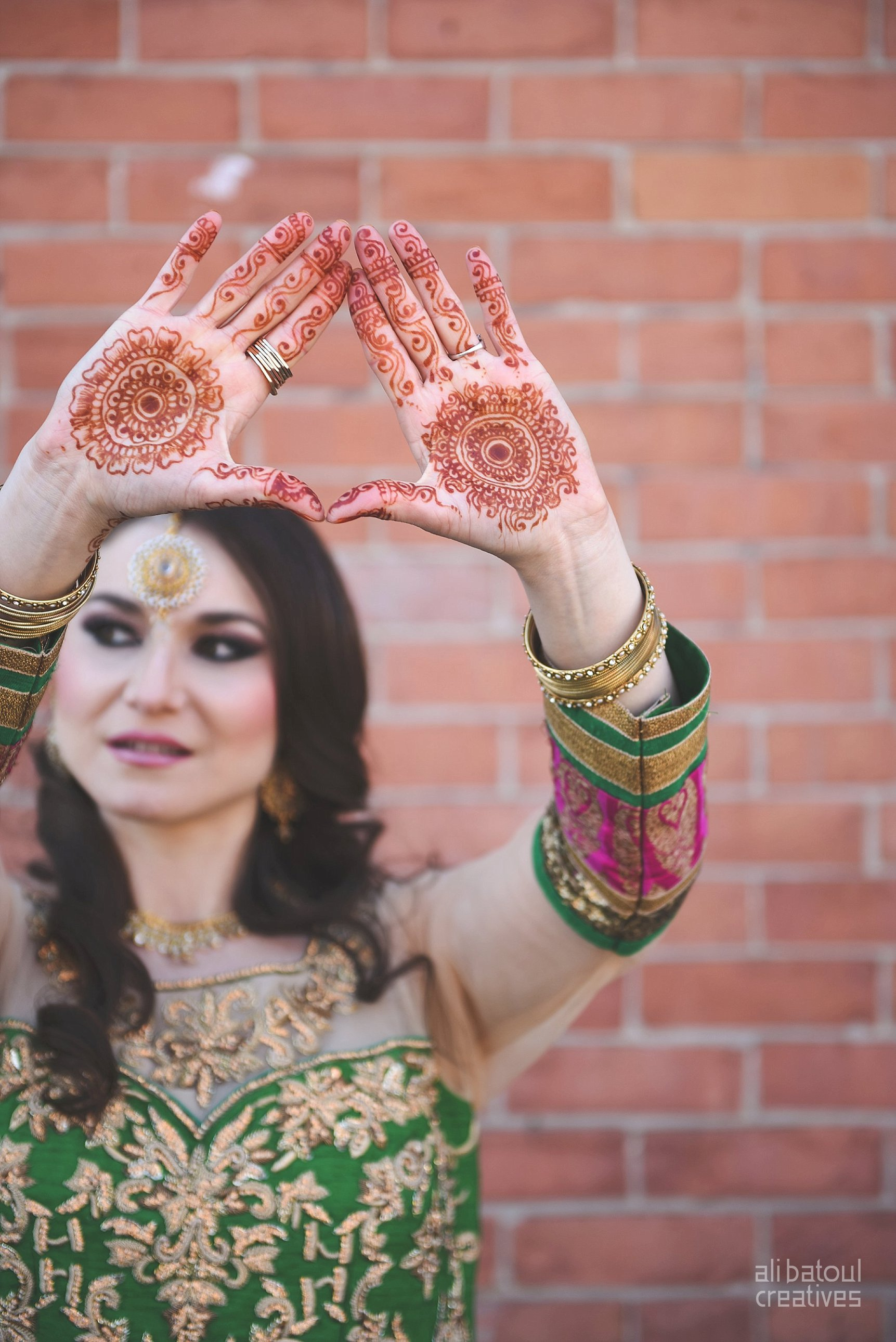 Indian-inspired bridal shoot - Ali Batoul Creatives-208_Green_Red Dress (BTS)