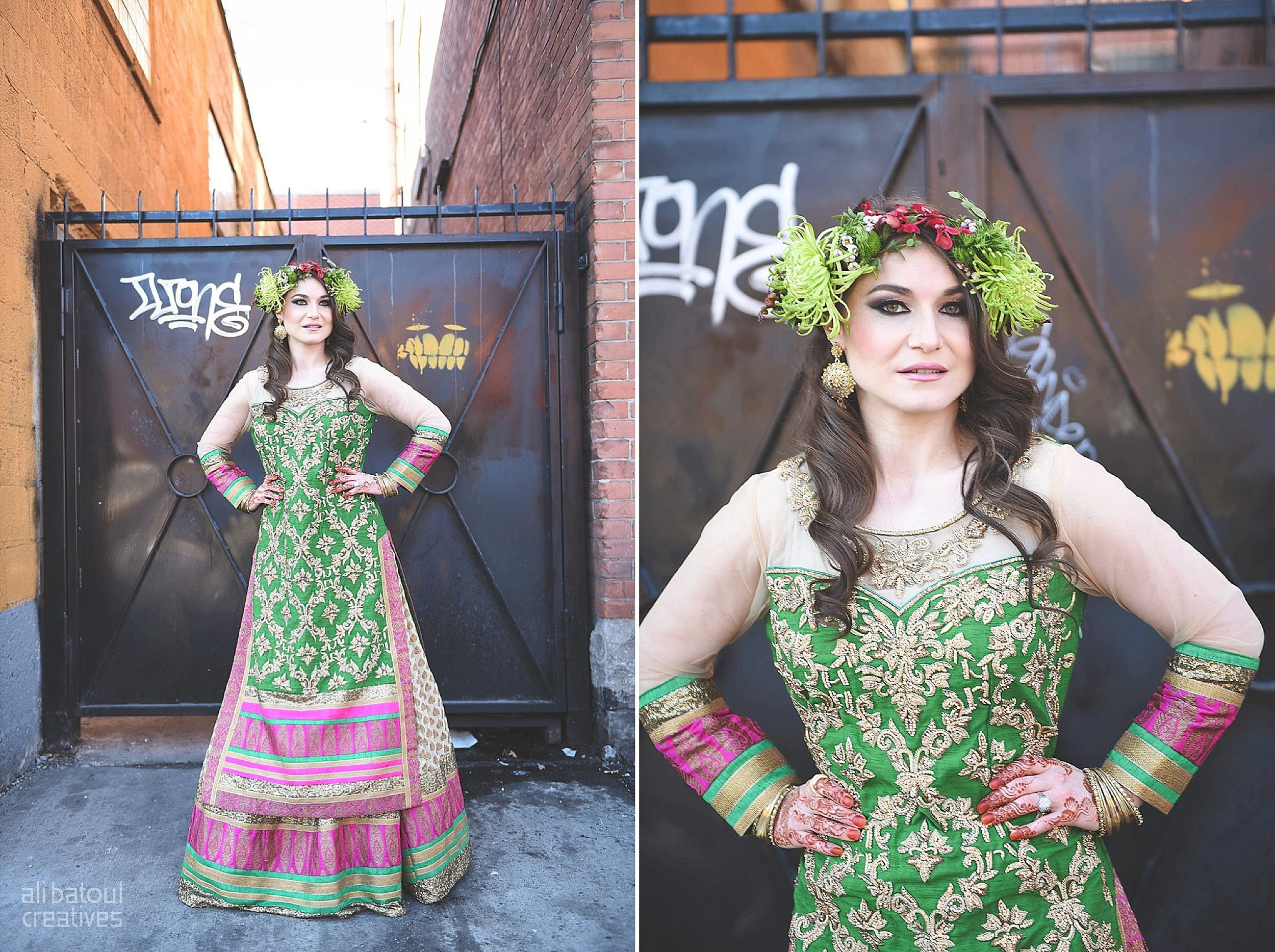 Indian-inspired bridal shoot - Ali Batoul Creatives-256_Green_Red Dress (BTS)