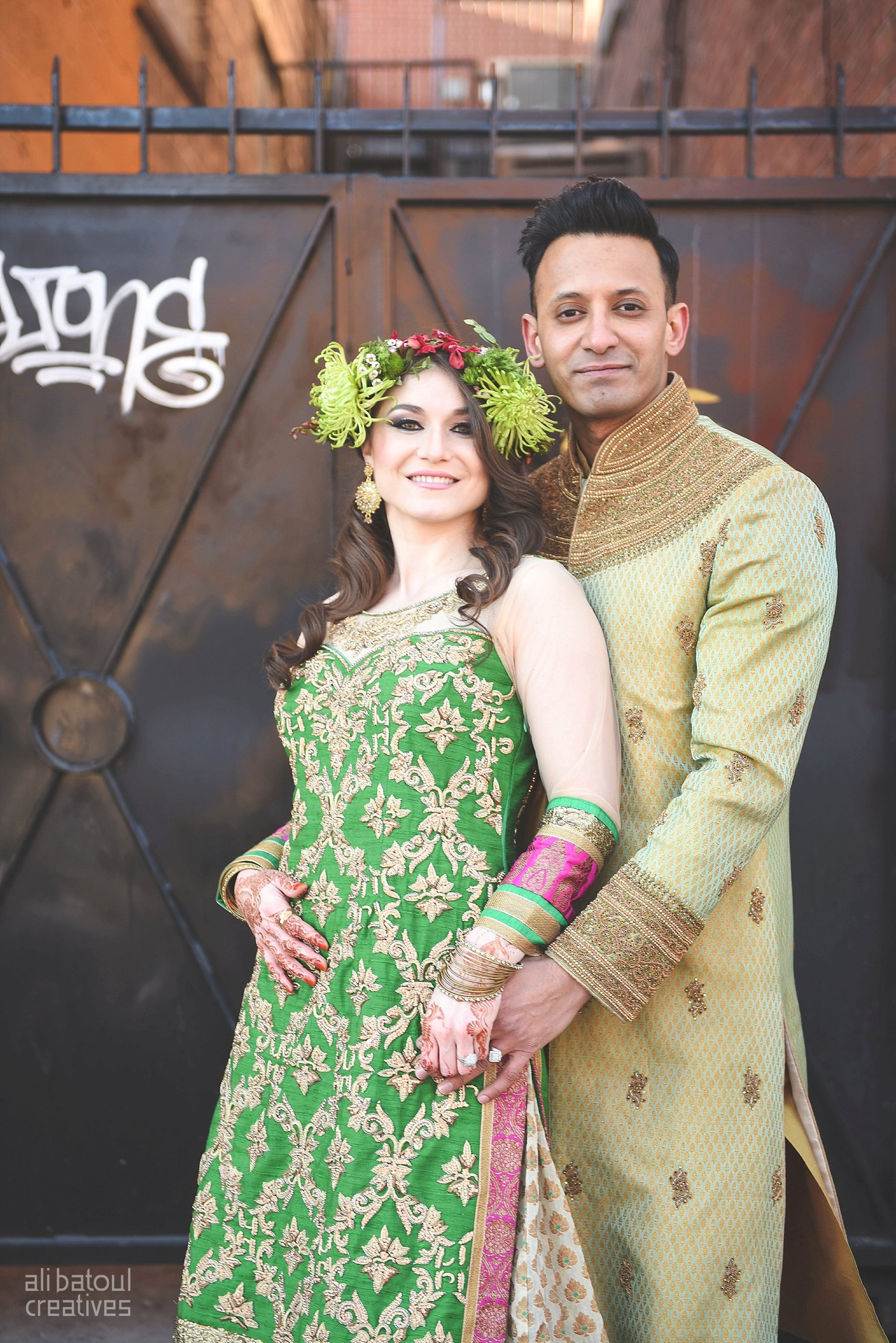 Indian-inspired bridal shoot - Ali Batoul Creatives-287_Green_Red Dress (BTS)