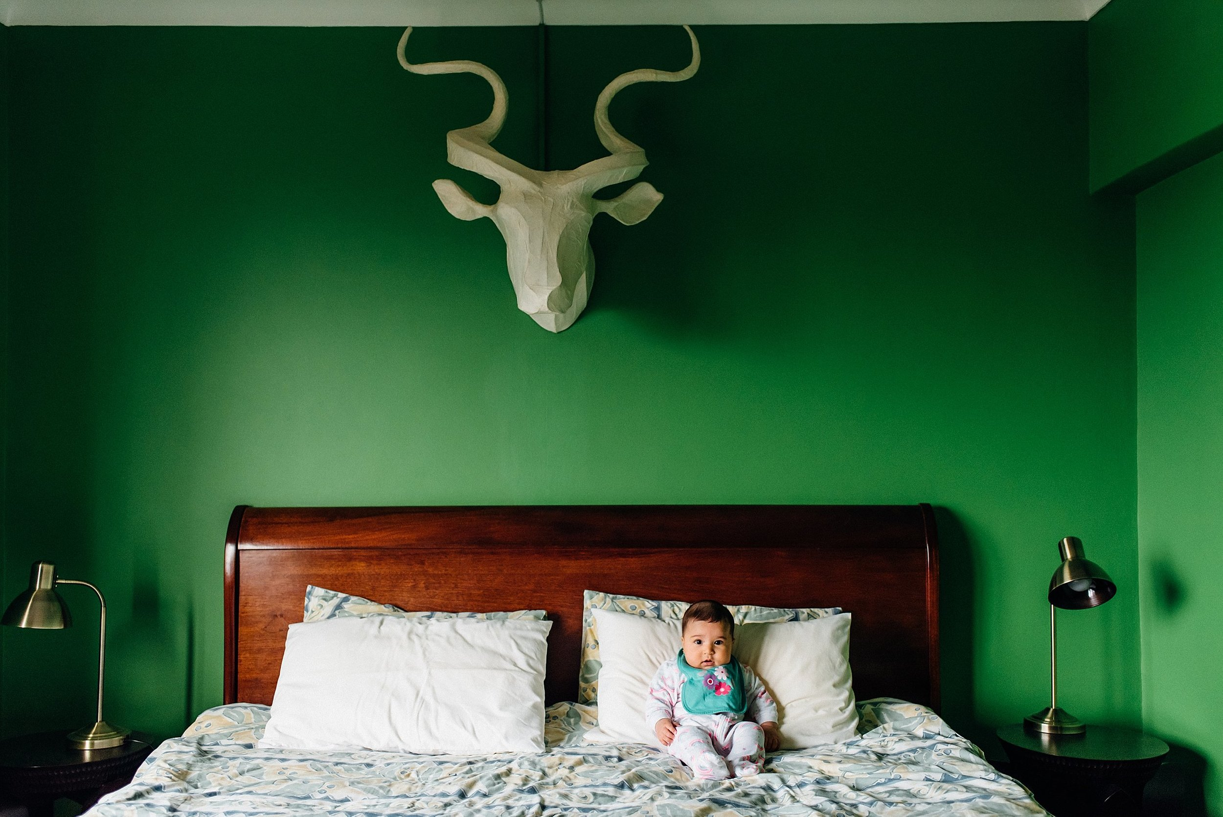Hayat wasn't too keen on the antlers, but she liked the King sized-bed!