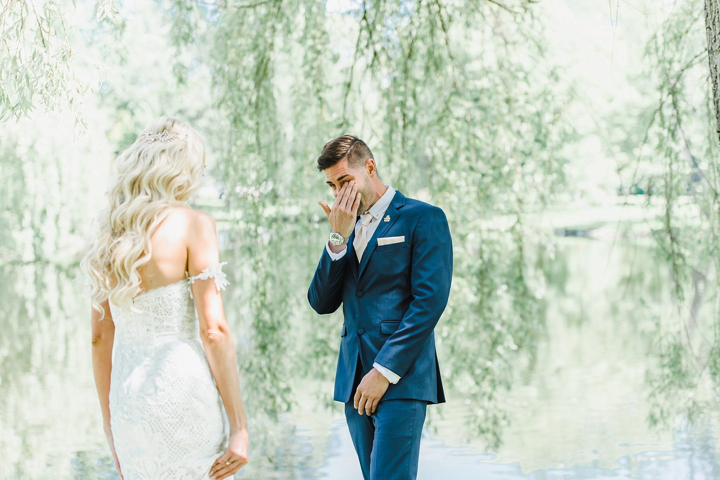 When we first met Chris and Kaylea, Chris told us that he was not the crying type.  Lo and behold, the first look got him into tears!