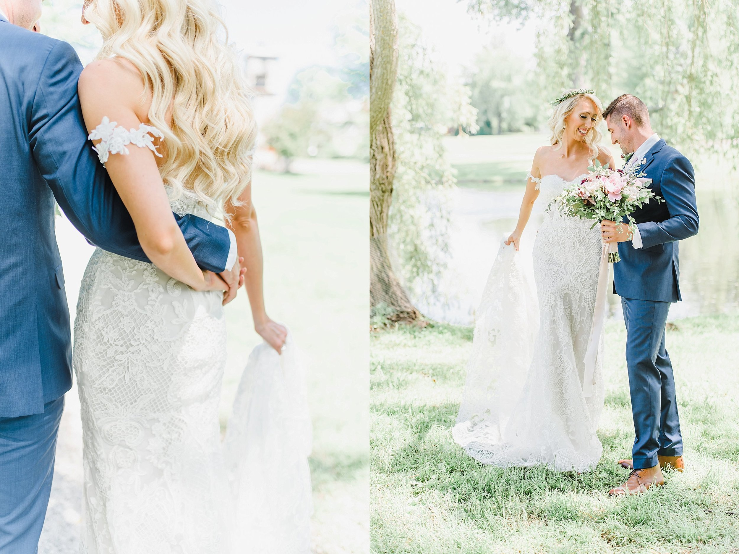After their first look, we walked around Stewart Park to take their bridal portraits.  We had so much time walking the grounds and enjoying the beautiful day before the ceremony.