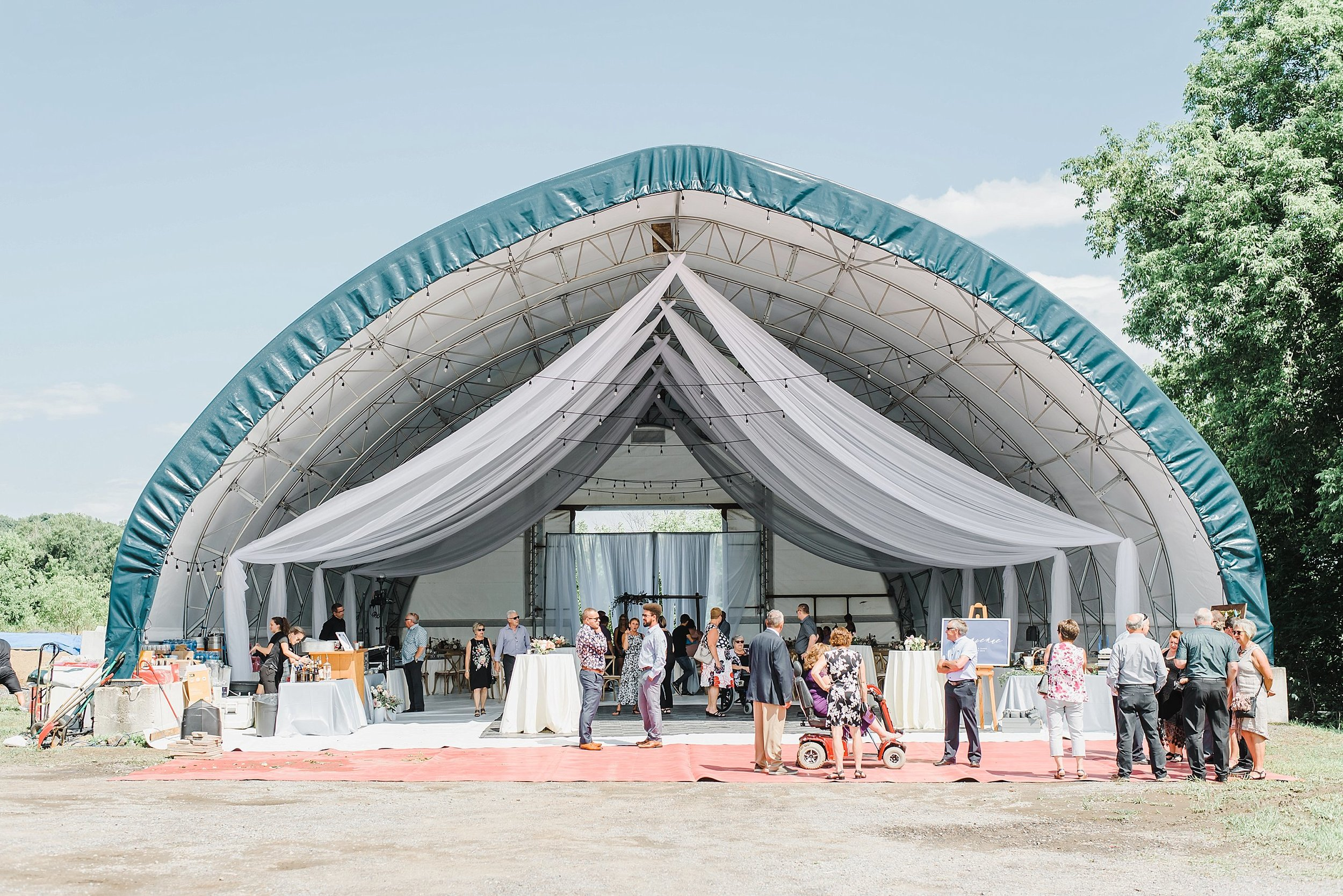The silo that was transformed into the perfect wedding venue on their family property!