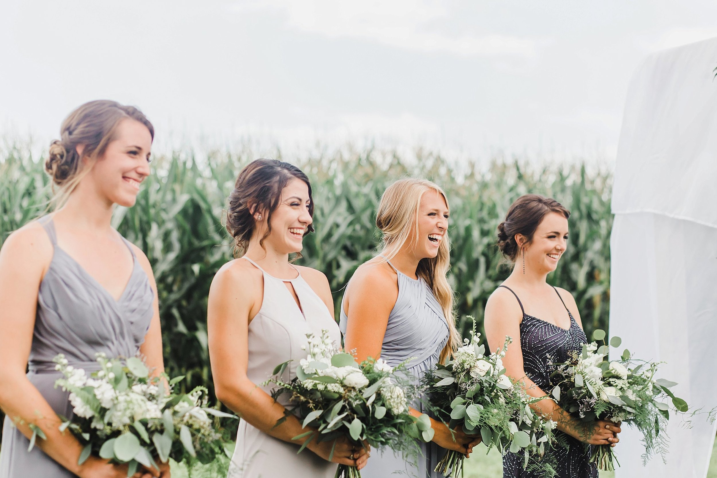 I love how her ladies were glowing as they watched their dear friend walk down the aisle.