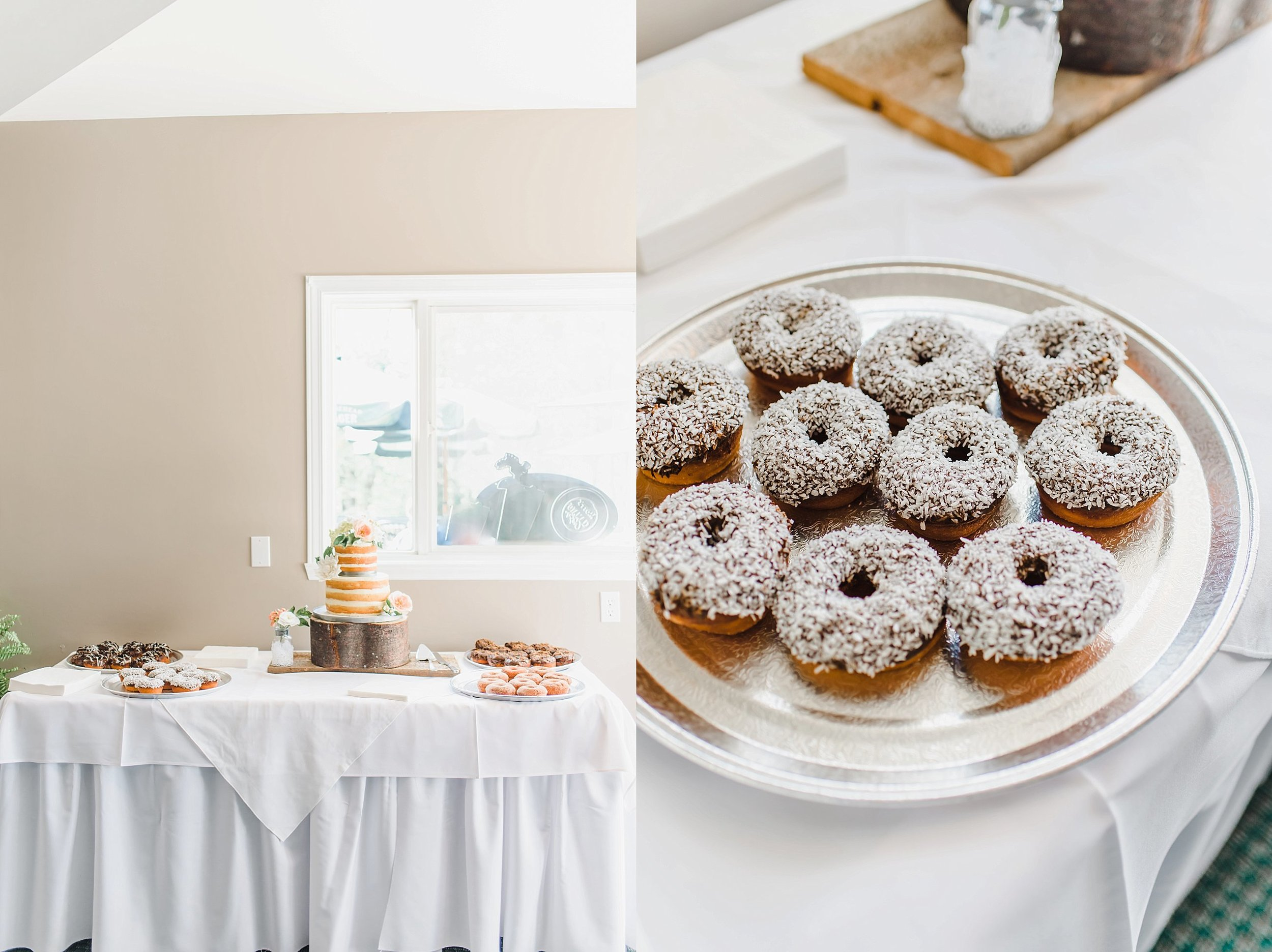 My favourite detail of all details.  Cake + donuts.  Made by the groom's cousin!