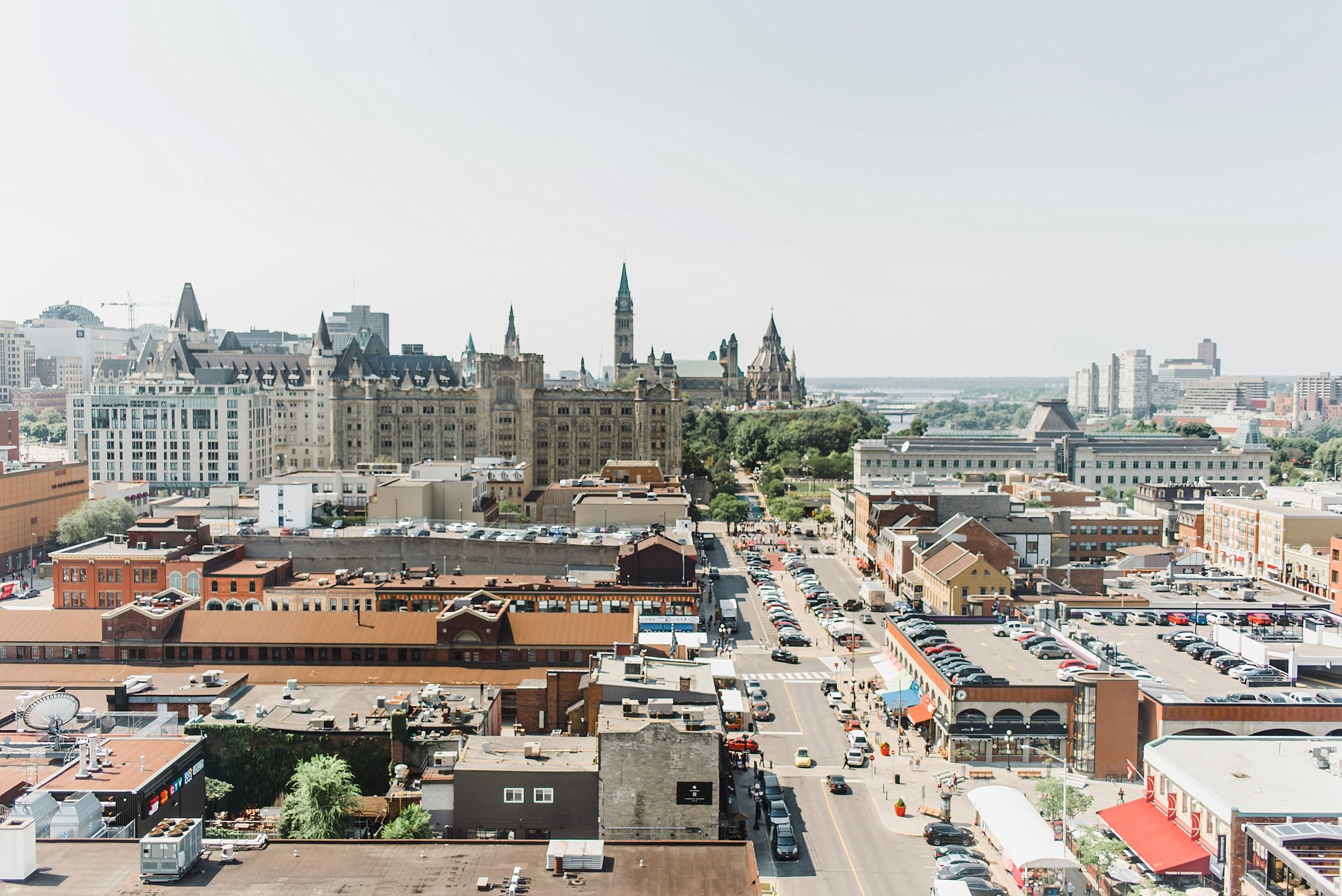 The view from the Andaz Ottawa Byward Market hotel is unbeatable!  Every wedding that takes place downtown should start right here.