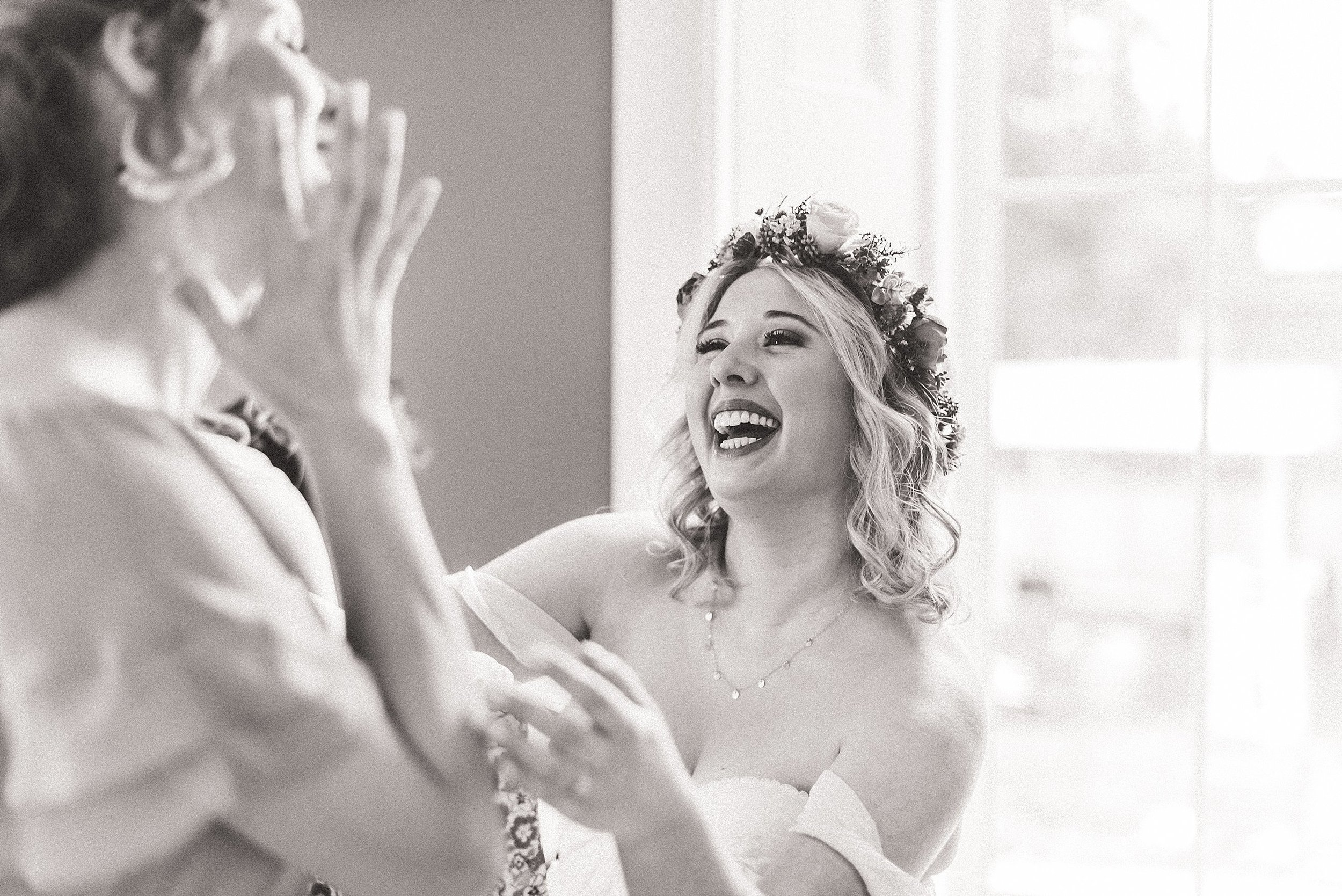 Laura kept breaking out into laughter!  It was such a fun time capturing these special moments with her best ladies.