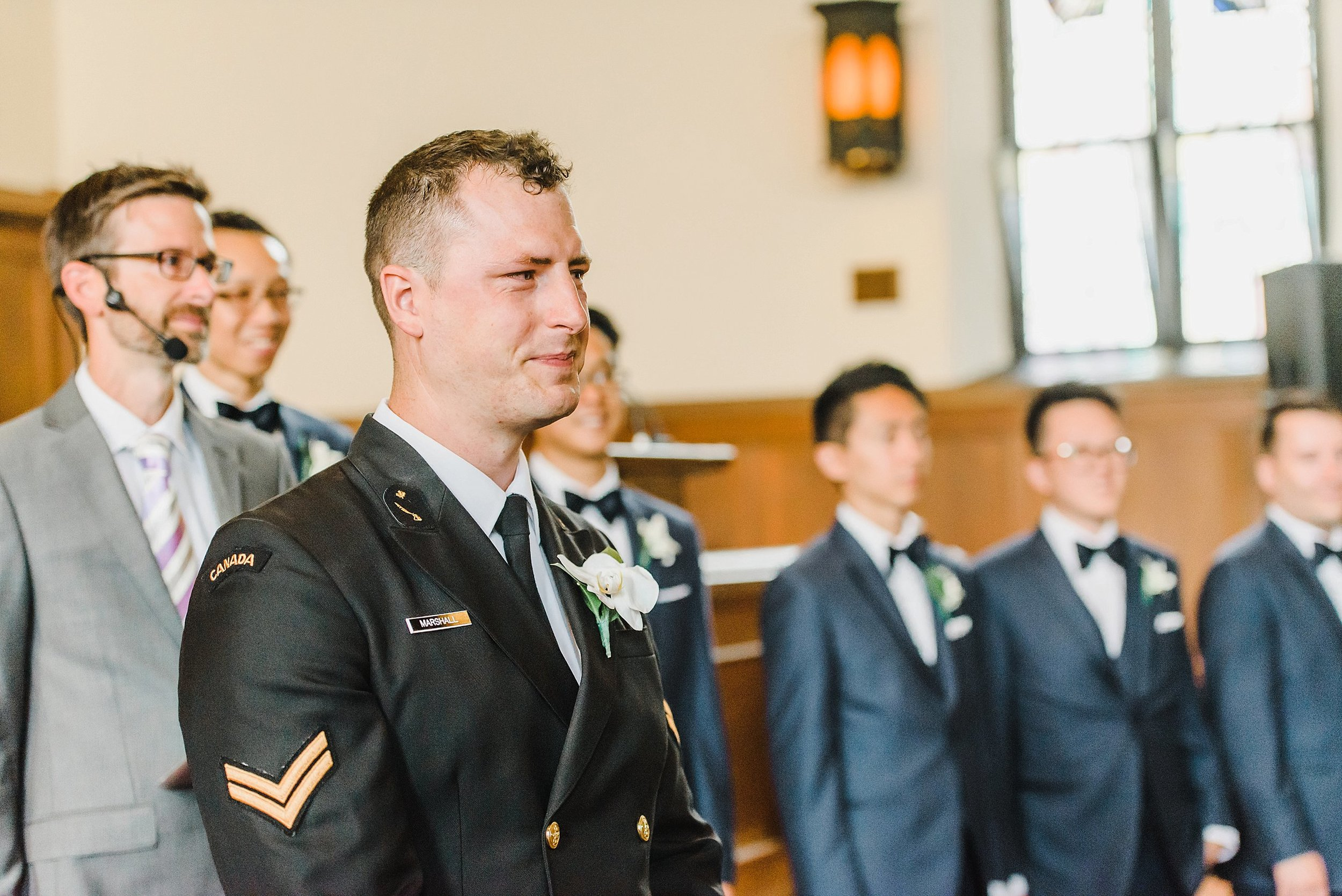 We all teared up at Ryan's reaction to seeing his bride walking down the aisle!