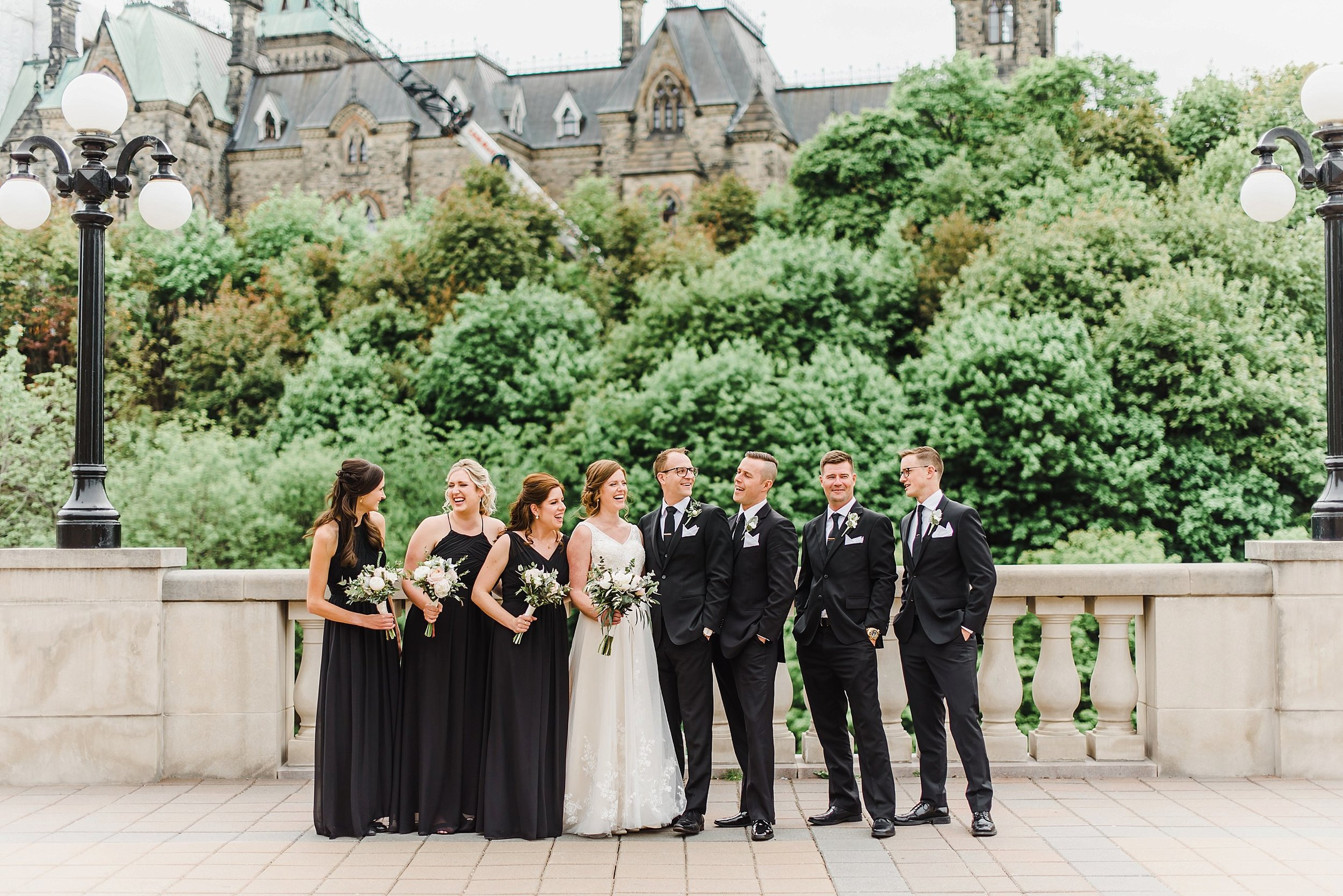 The bridal party joined us later on at the balcony of Chateau Laurier!