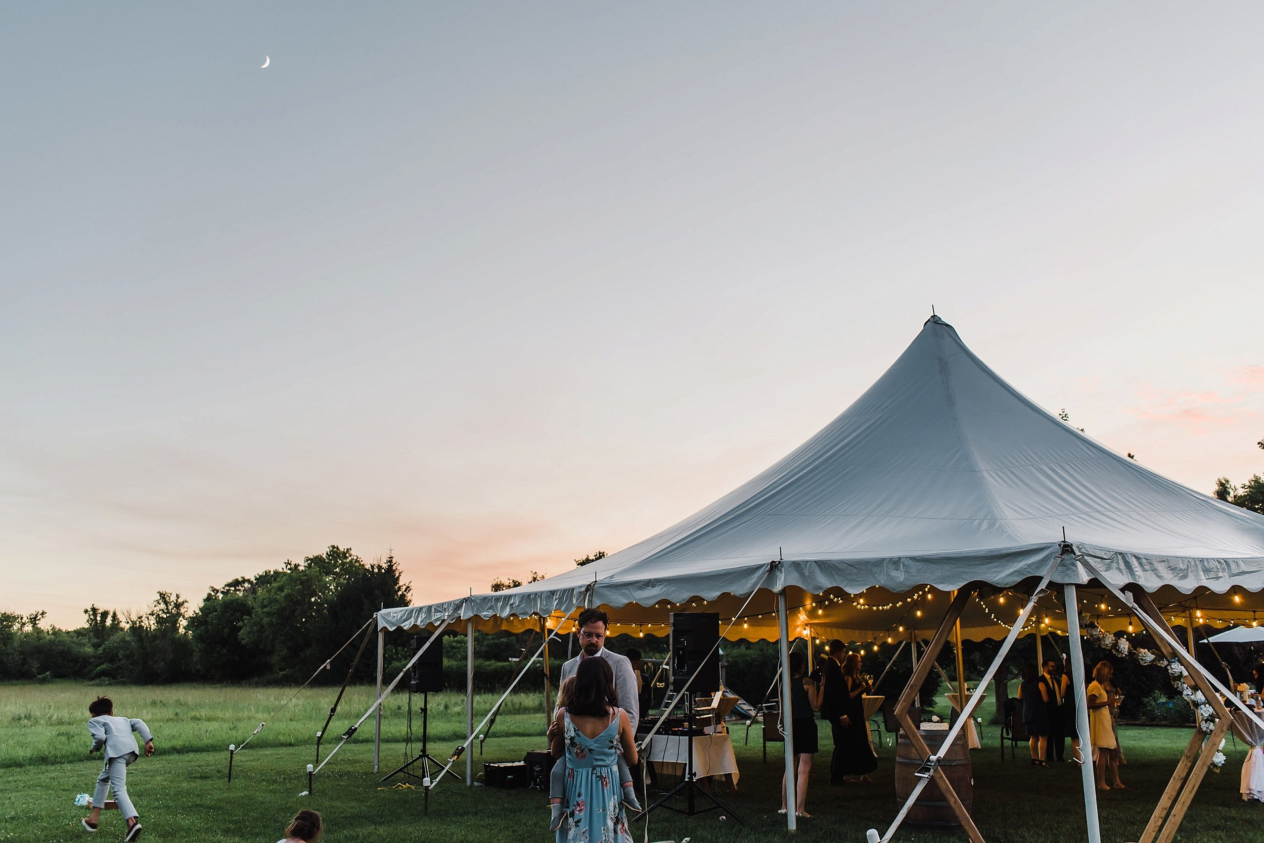 The soft sunset that evening will be one of the most memorable moments of their wedding day.
