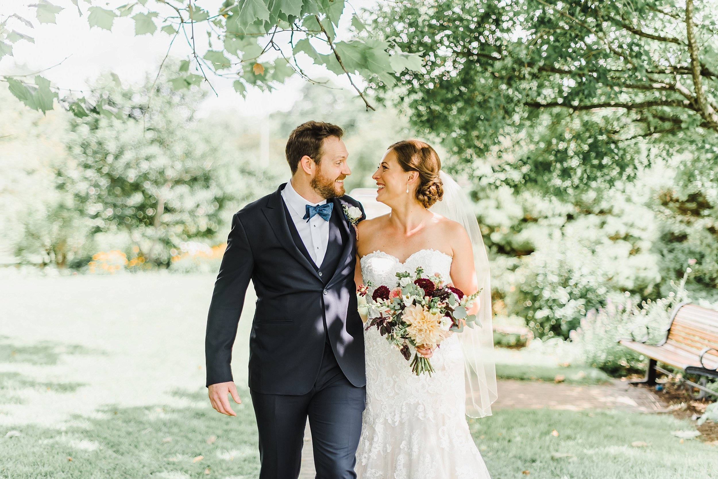 We took advantage of the empty grounds to walk through the gardens and capture some of their bride and groom photos throughout before the ceremony.