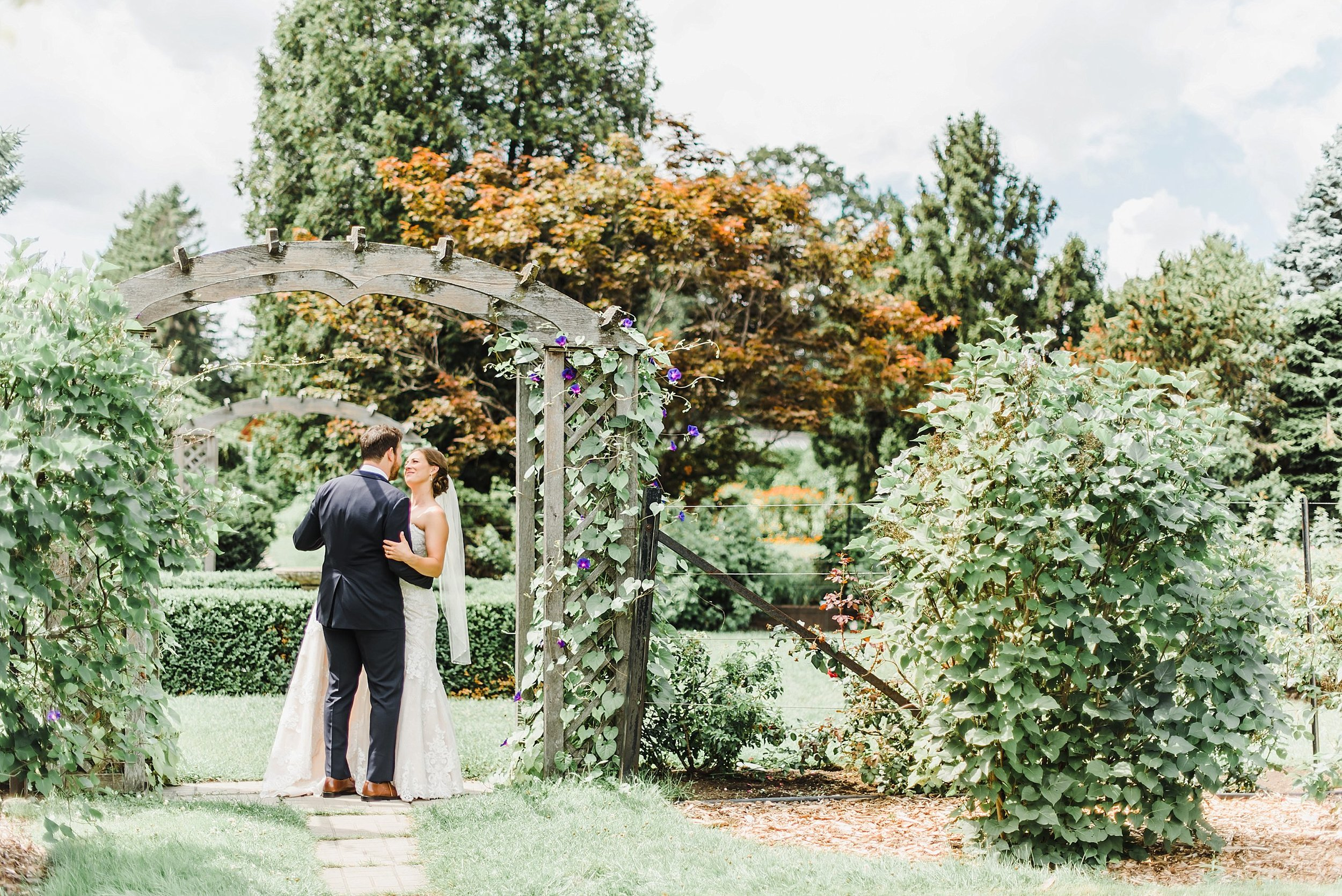 These two love nature, so it made complete sense to take their first round of photos as husband and wife amidst the flora and fauna!