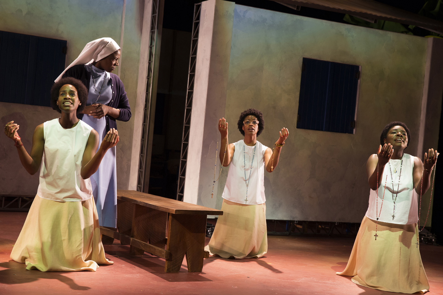As Anathalie Mukamazimpaka in 'Our Lady of Kibeho'. Photo by Joan Marcus.