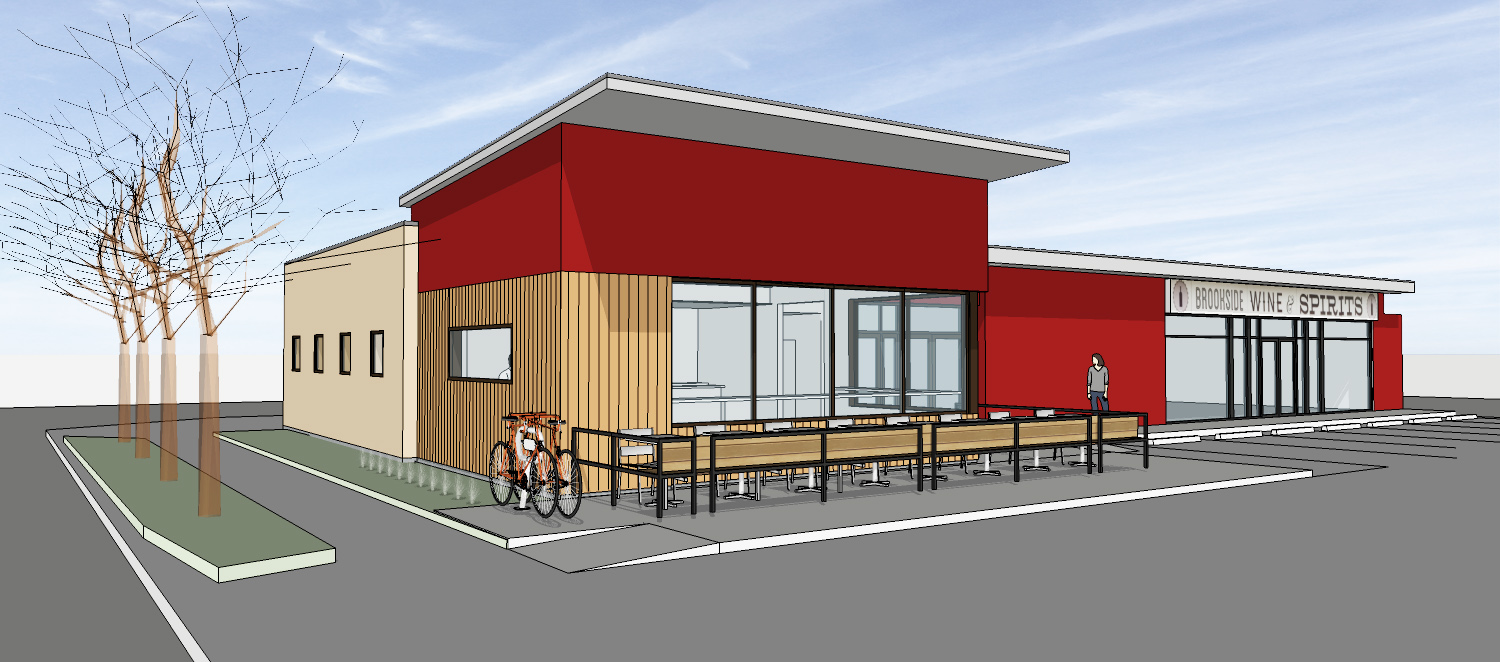 Model View - Brookside Pizza (starting construction Spring 2017)