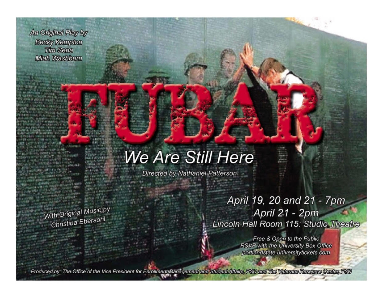 FUBAR:  We are Still Here  Designed and Directed by Nathaniel Patterson