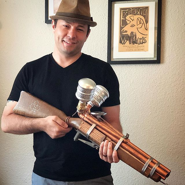 The Patterson Volleygun has been handed off to the client, who described it as exceptional. I always enjoy a creative challenge and this project has been quite enjoyable.  #creatorsofinstagram #buildersofinsta #veterancreated #steampunkgun #steampunk #volleygun #scratchbuild