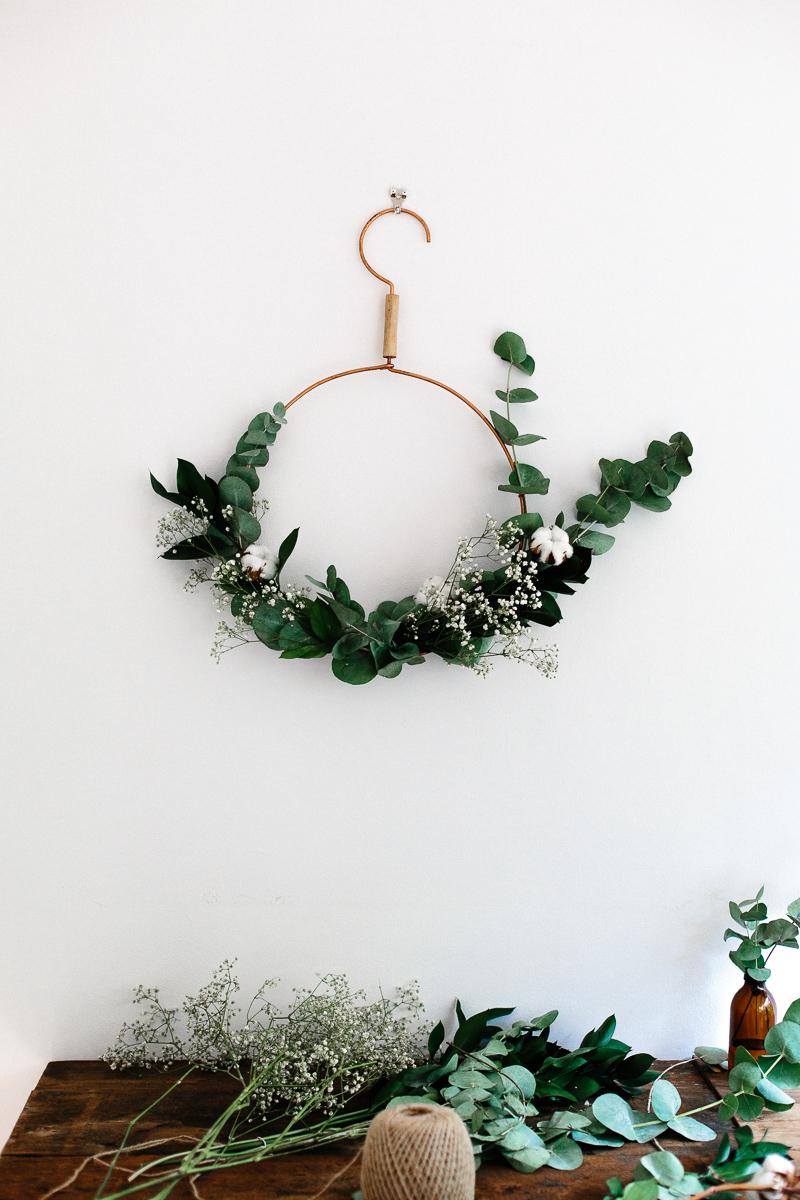 A modern Christmas wreath