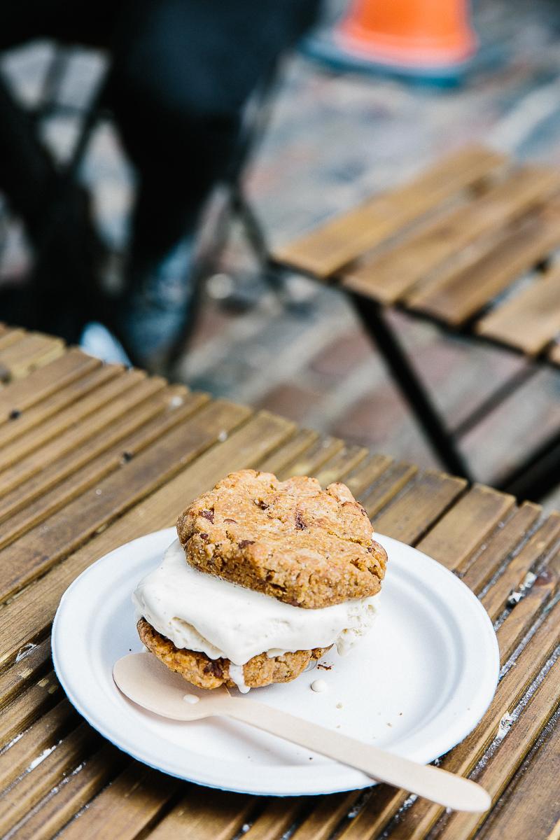 Cookies + Scream for vegan treats, Camden Market, London