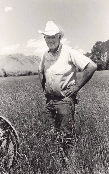 Ralph Gill in one of the Ranch's hayfields