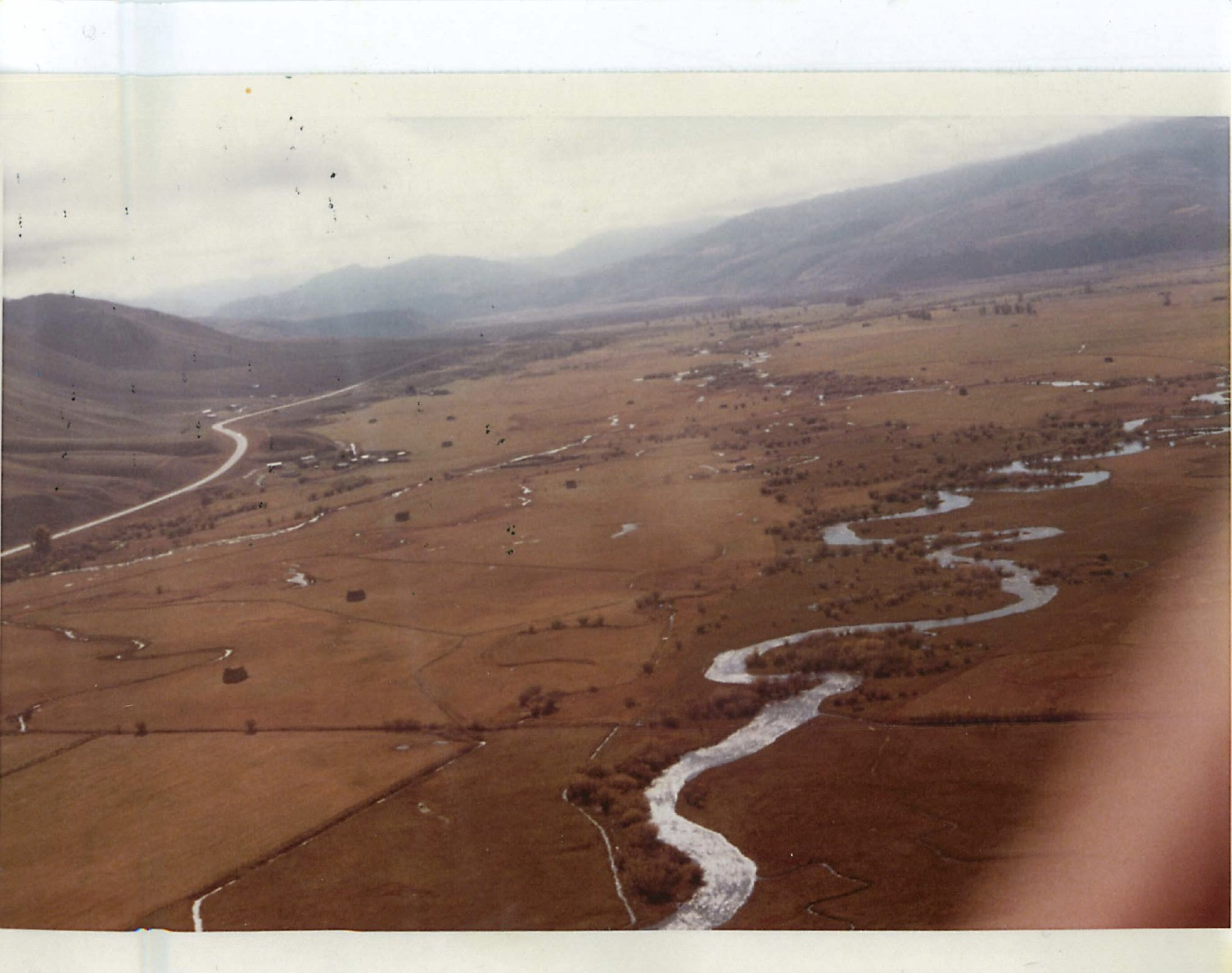 The southern border of the Jackson Hole Hereford Ranch in 1972. Notice there's no Rafter J or Melody Ranch subdivisions.