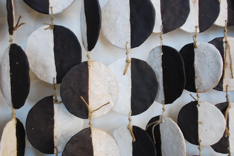 MQuan Ceramic Wall Hanging - Black & White