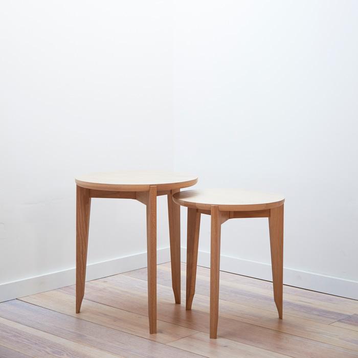 Tripod Side Table - Wood