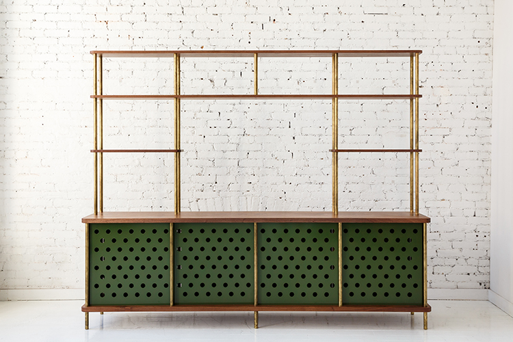 Strata Credenza with Shelves