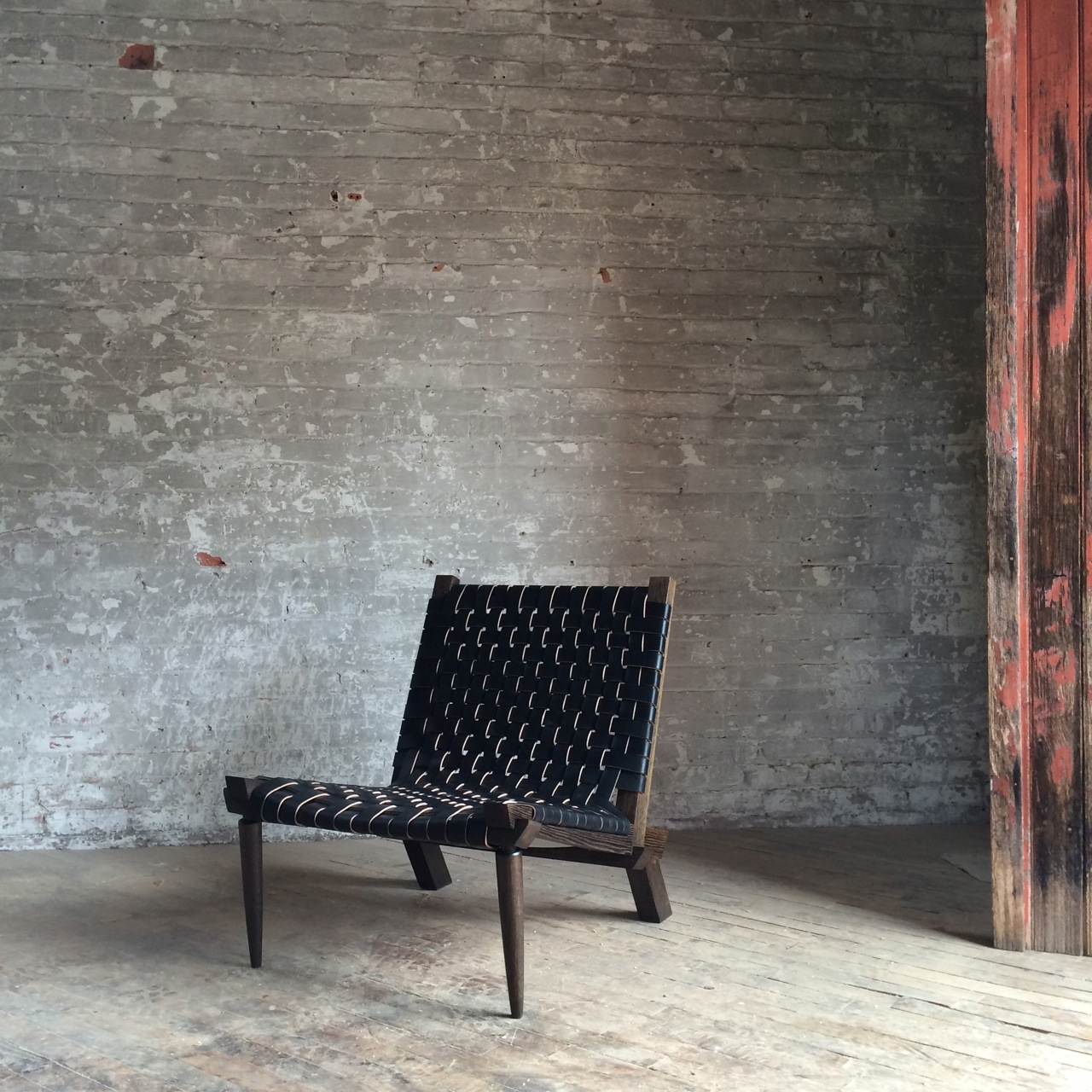 Woven Leather Lounger