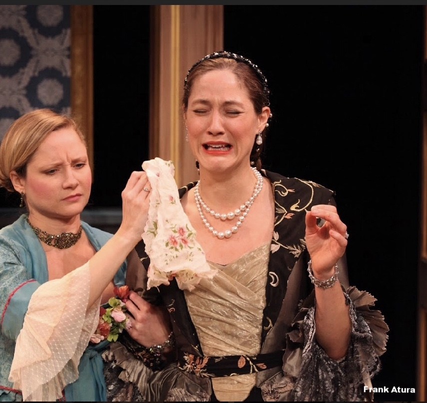 Olivia Osol as The Countess and Katie Sah as Hortensia in the Asolo Conservatory production of The Rehearsal.