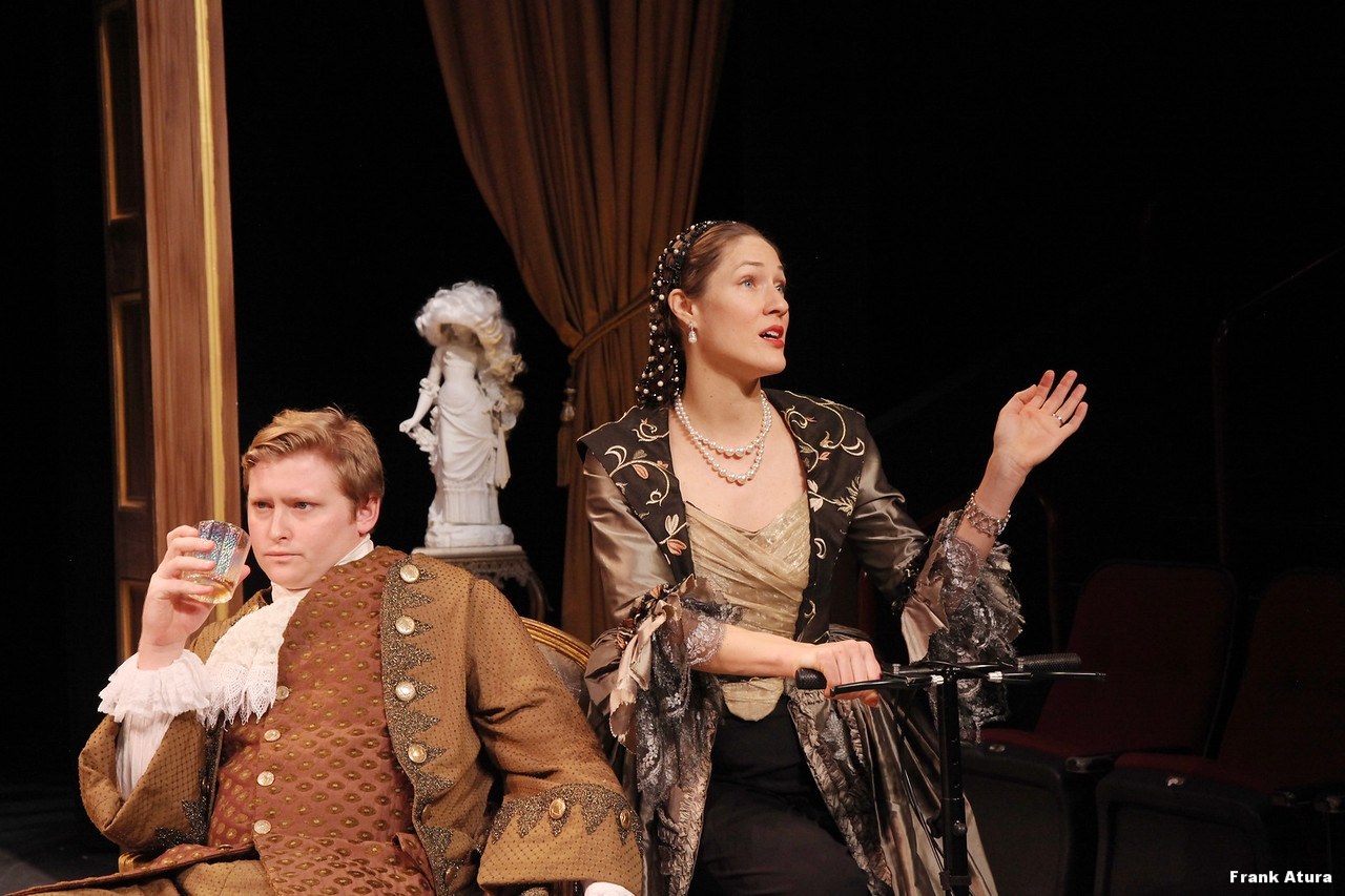 Olivia Osol as The Countess and Dylan Crow  as Hero in the Asolo Conservatory production of The Rehearsal.
