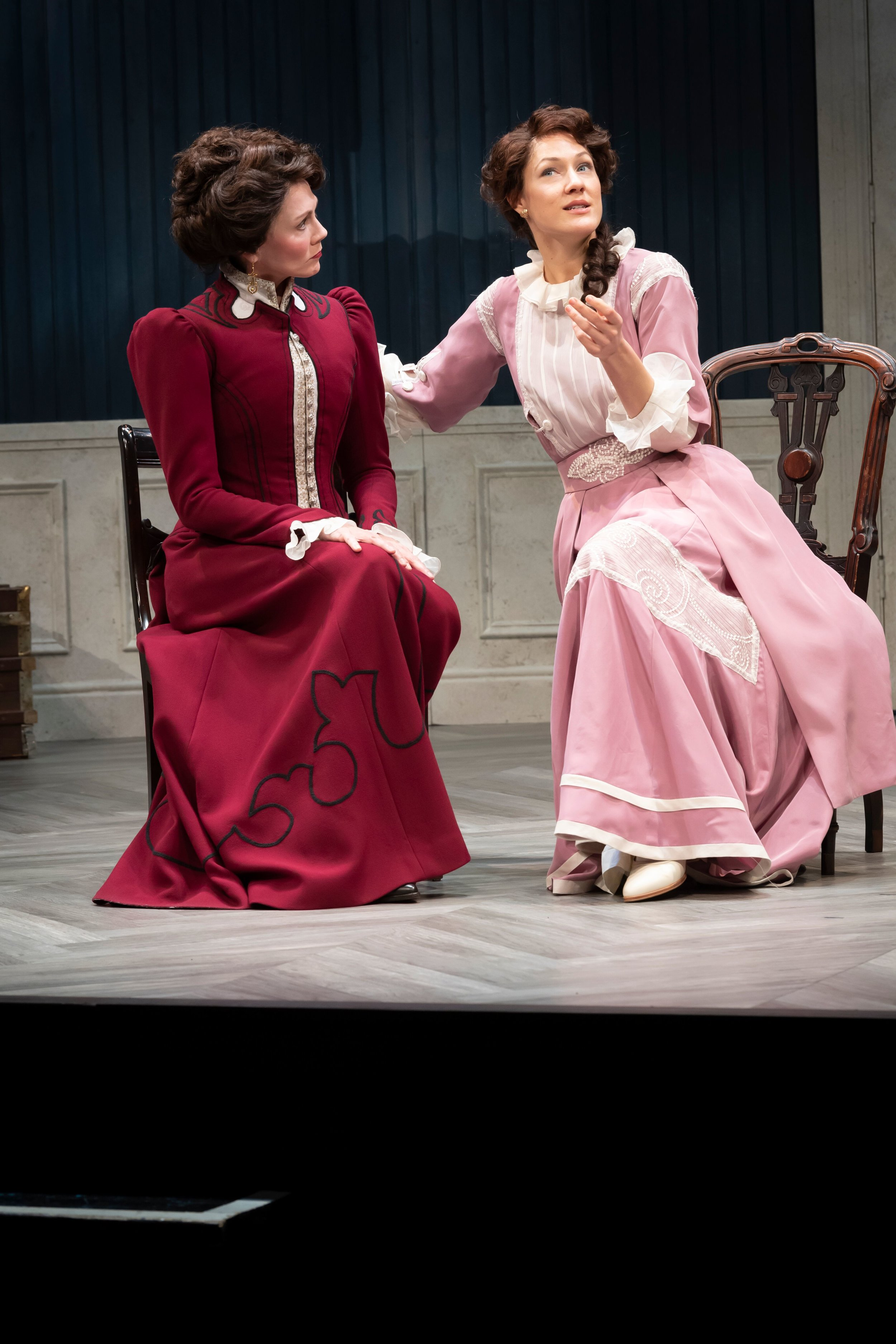 Kate Hampton and Olivia Osol in the Asolo Rep production of A Doll's House, Part 2. Photo by Cliff Roles