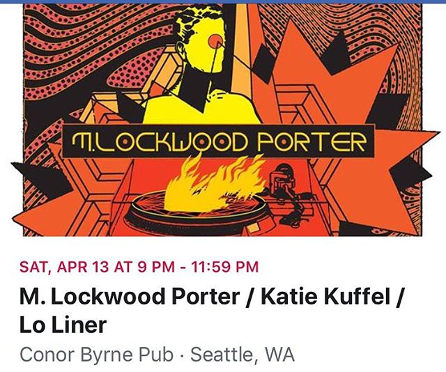 Next up Sat. April 13th! We always love playing with @mlockwoodporter when he rolls through town! AND we've got 2 new songs to debut and there will be drums and bass (Jesse and Eric from @thecryingshame will be switching instruments for this show!) it's going to be memorable, friends! Also playing is @katiekuffel who we are looking forward to seeing for the first time!