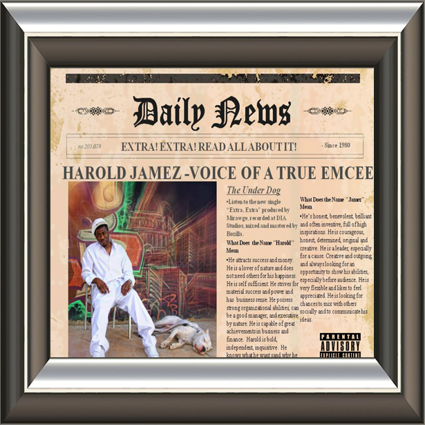 "(January 24, 2016) Number 1  #SongOfTheWeek "" Extra! Extra! "" by   Harold Jamez"