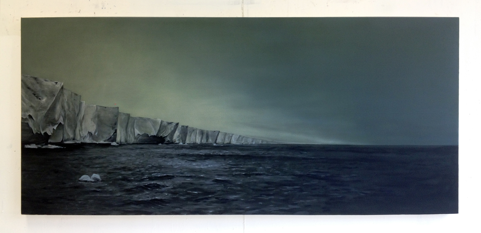 Conquest (Ice Shelf),  2012 Oil on canvas 32 x 72 inches