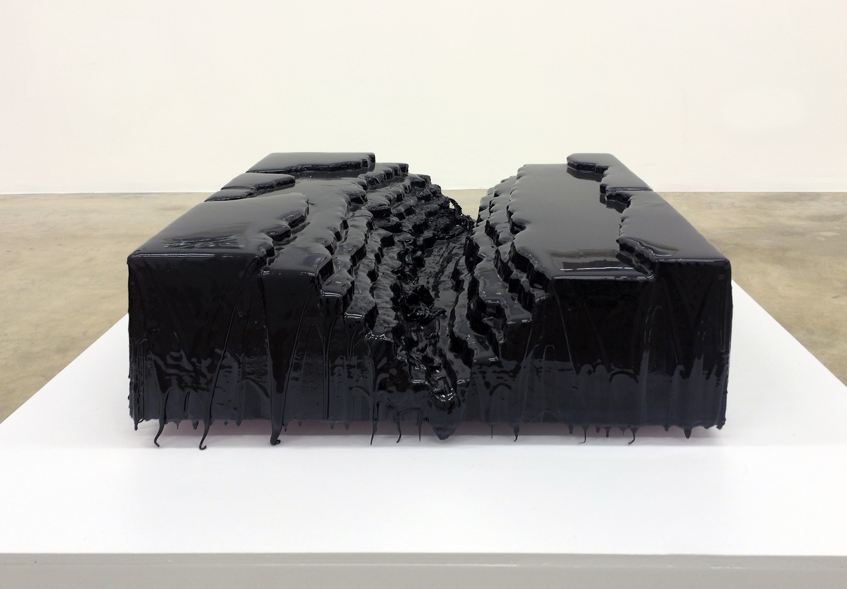 Rio Grande Gorge , 2014 Resin, Latex, Polystyrene 24 x 24 x 12 inches