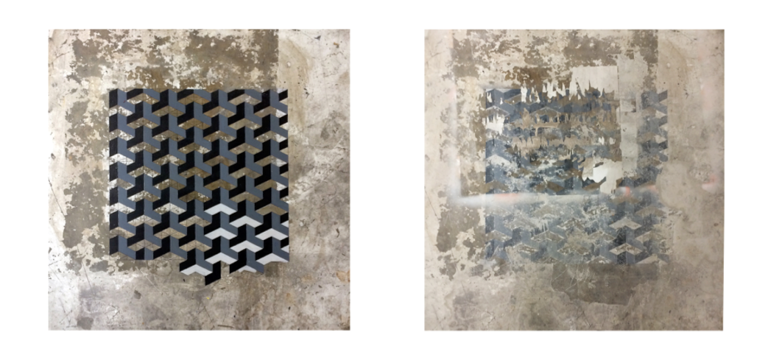 Bobst (Studio Floor) , 2014 Digital inkjet prints 16 x 16 inches each