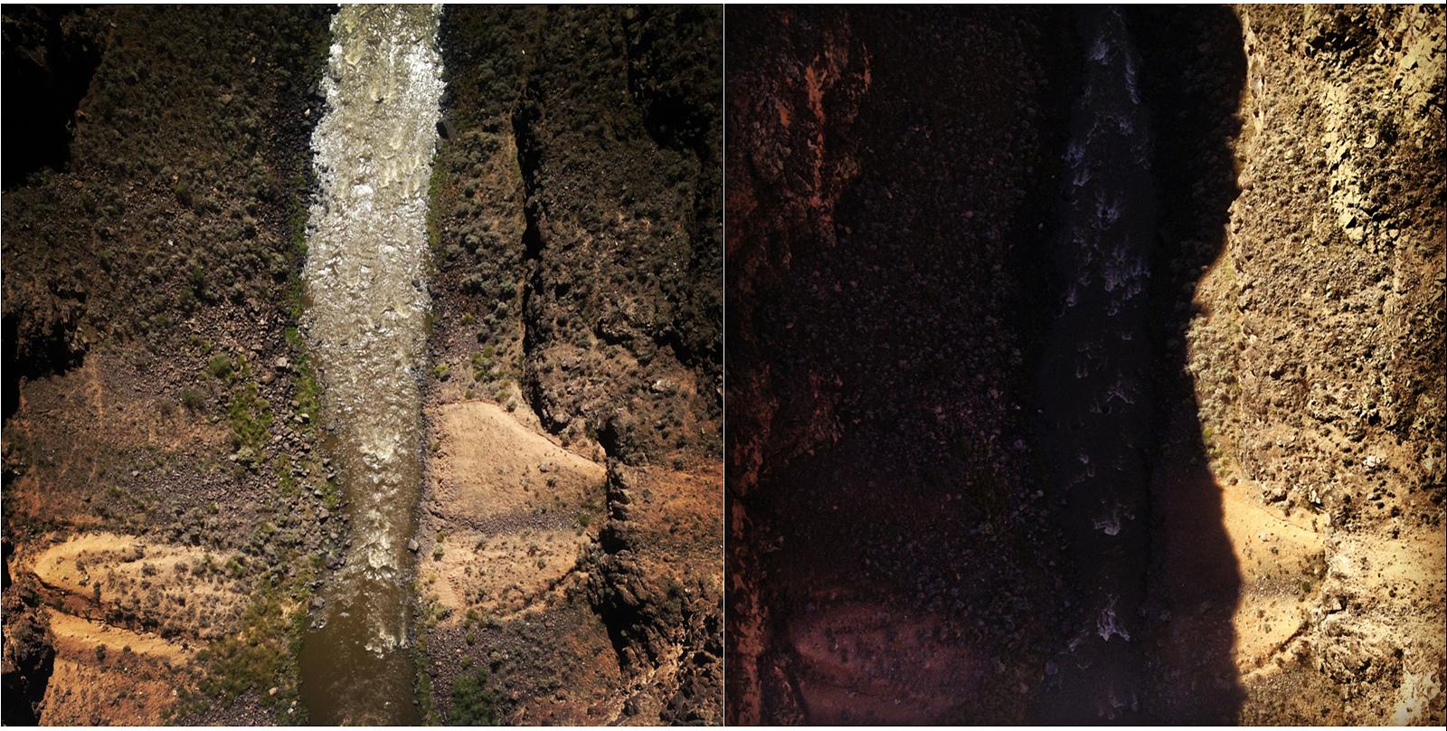 600 Feet (Rio Grande Gorge Bridge) , 2014 Digital inkjet prints 16 x 16 inches each