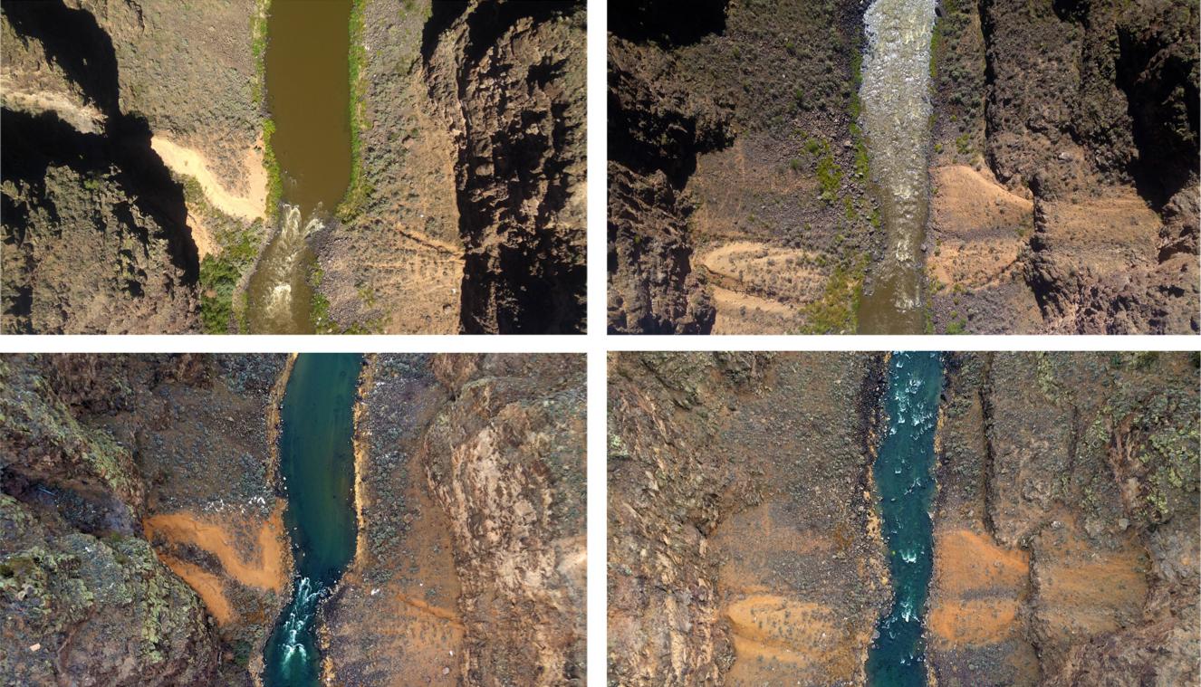 600 Feet (Rio Grande Gorge Bridge [September/January) , 2014 Digital inkjet prints 13 x 19 inches each