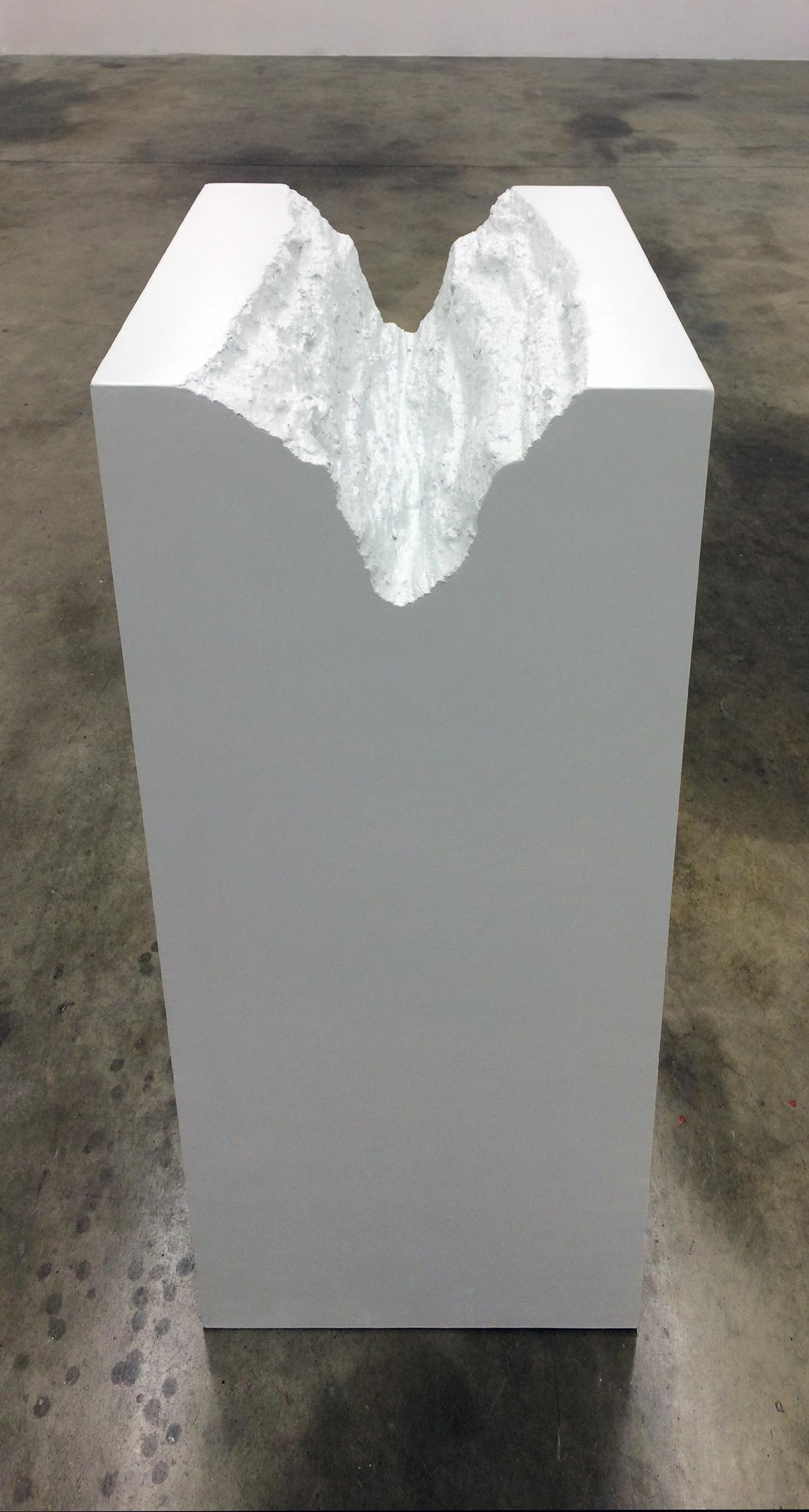 Rio Grande Gorge (Pedestal) , 2014 MDF, Urethane, Silicone, and enamel 43 x 20 x 20 inches