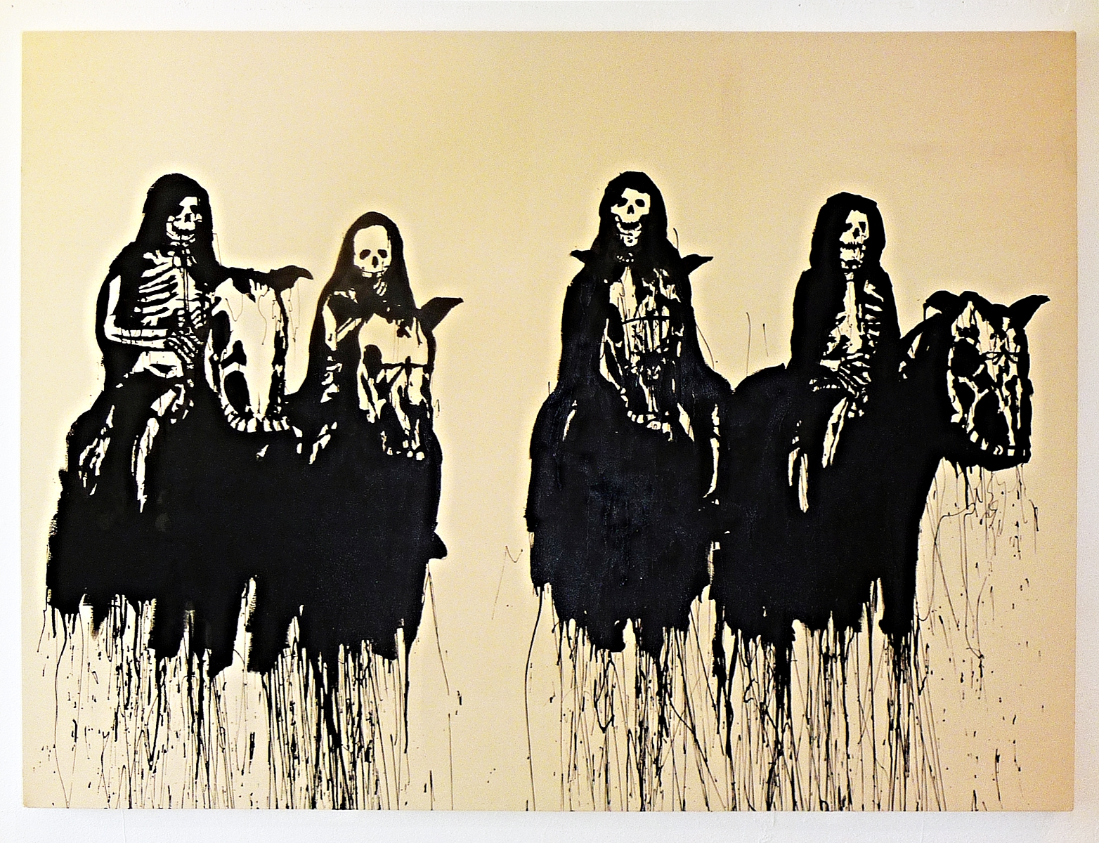 Four Horsemen,  2010 Oil on canvas 72 x 96 inches