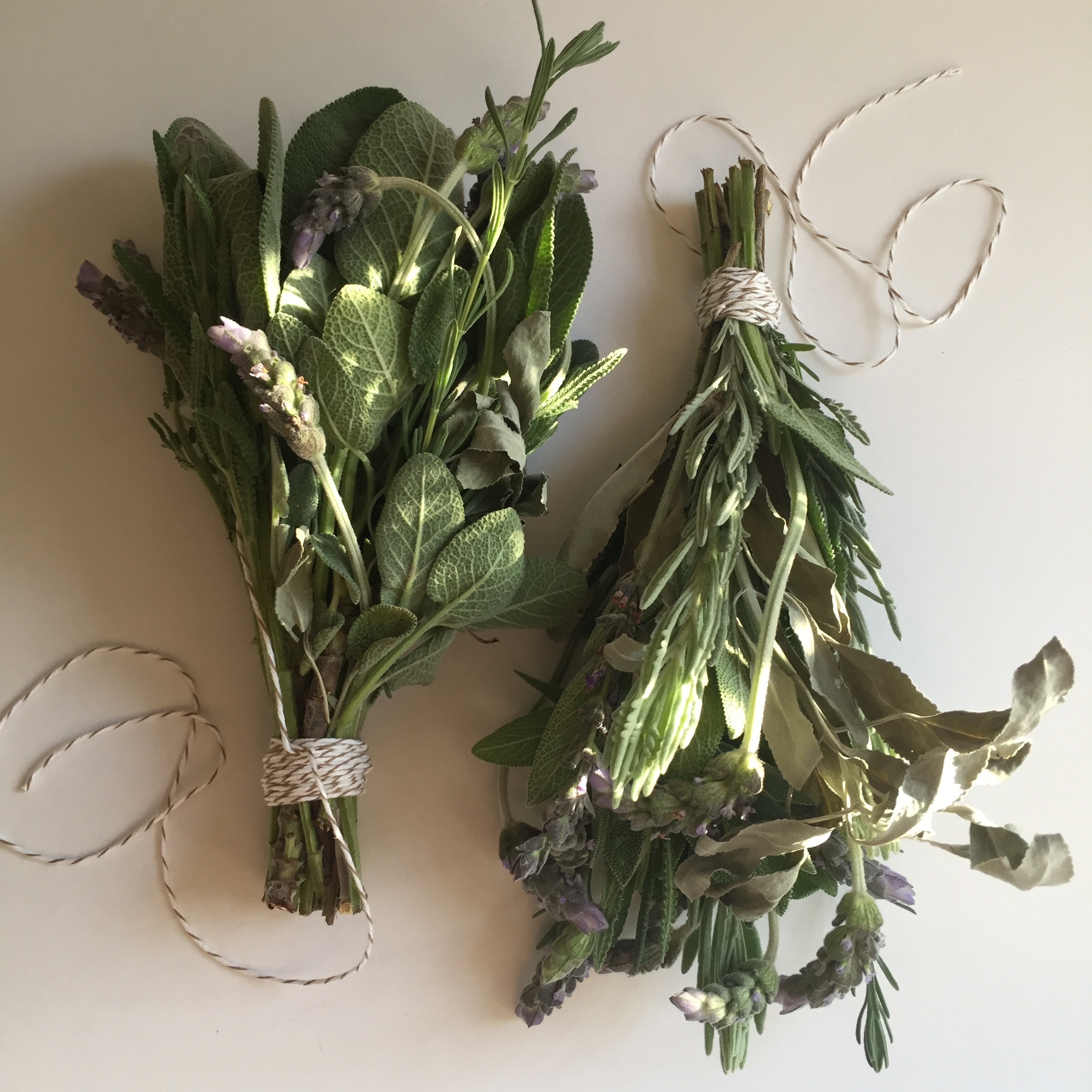 LAVENDER + SAGE BUNDLES FOR AN ALL-SENSORY REMINDER TO STOP AND BE PRESENT.