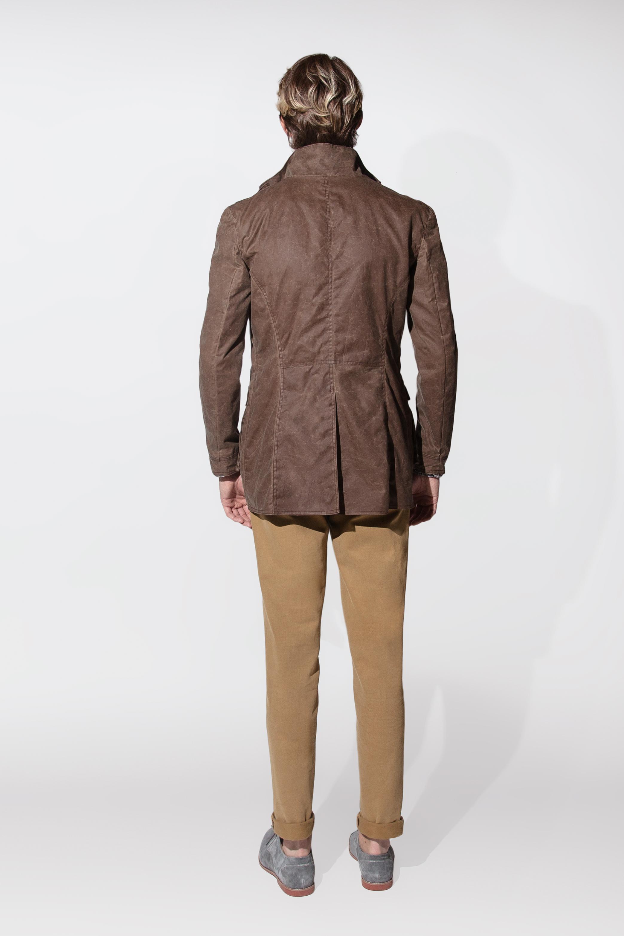 waxed cotton jacket $795