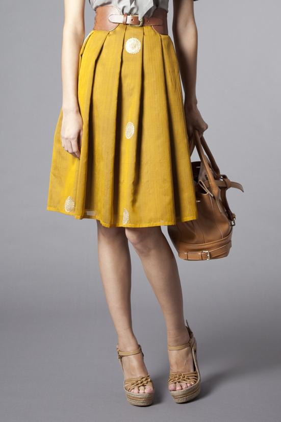 Tailored Pleat Skirt