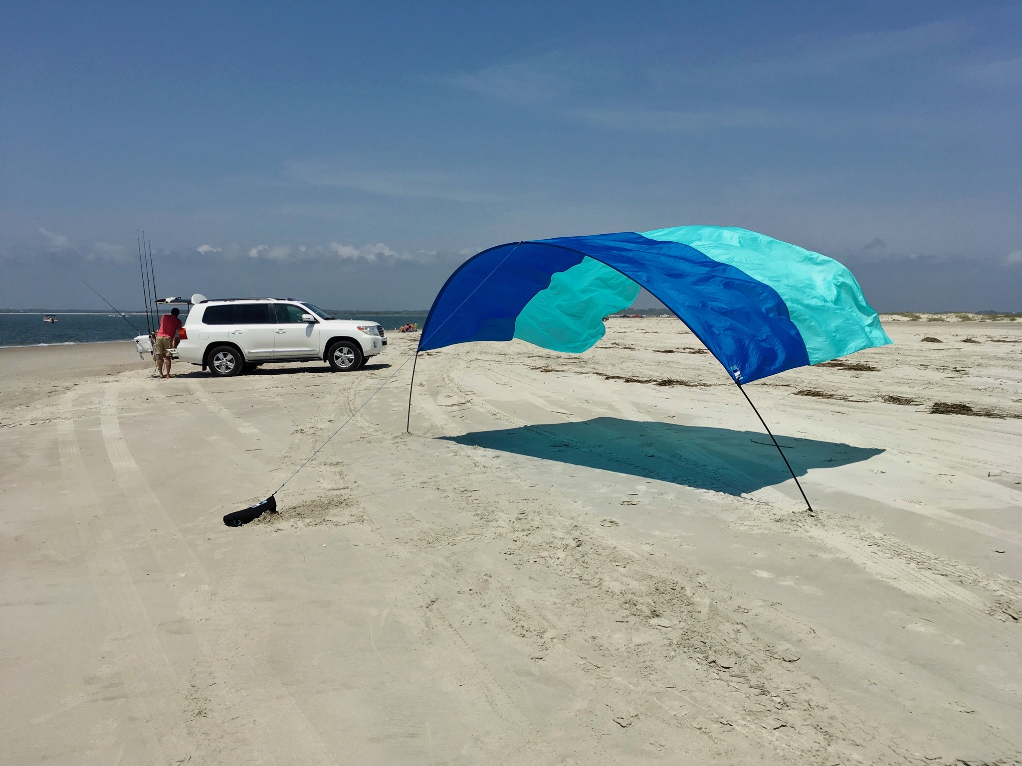 beach shade shibumi wind powered beach shade