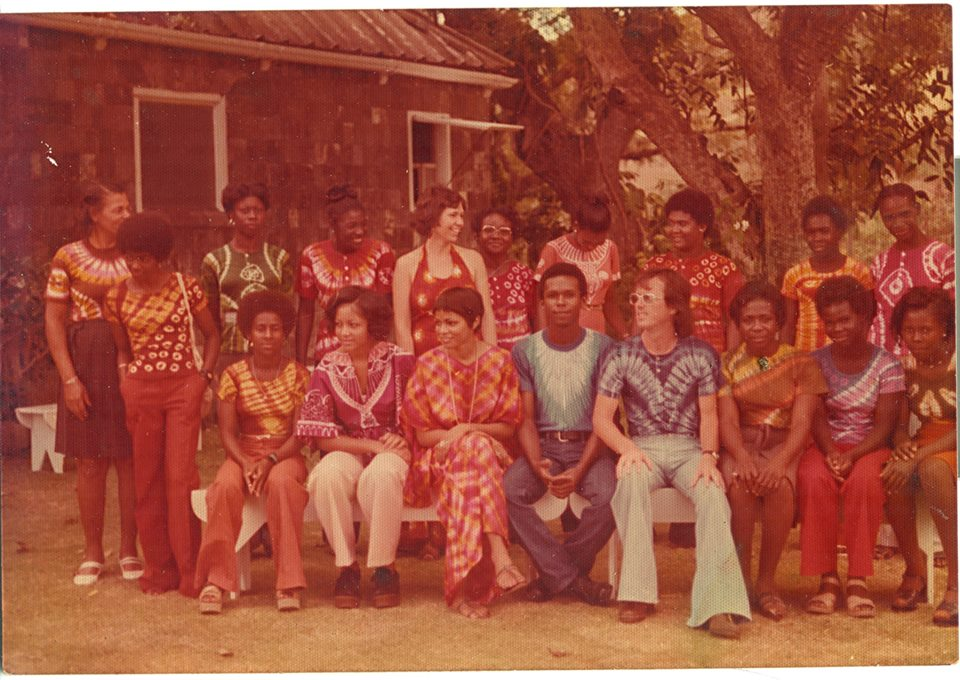 1977 - This is the first staff photo ever taken in front of what is now our Rainforest Bar. A few of these talented staff are still present to this day.