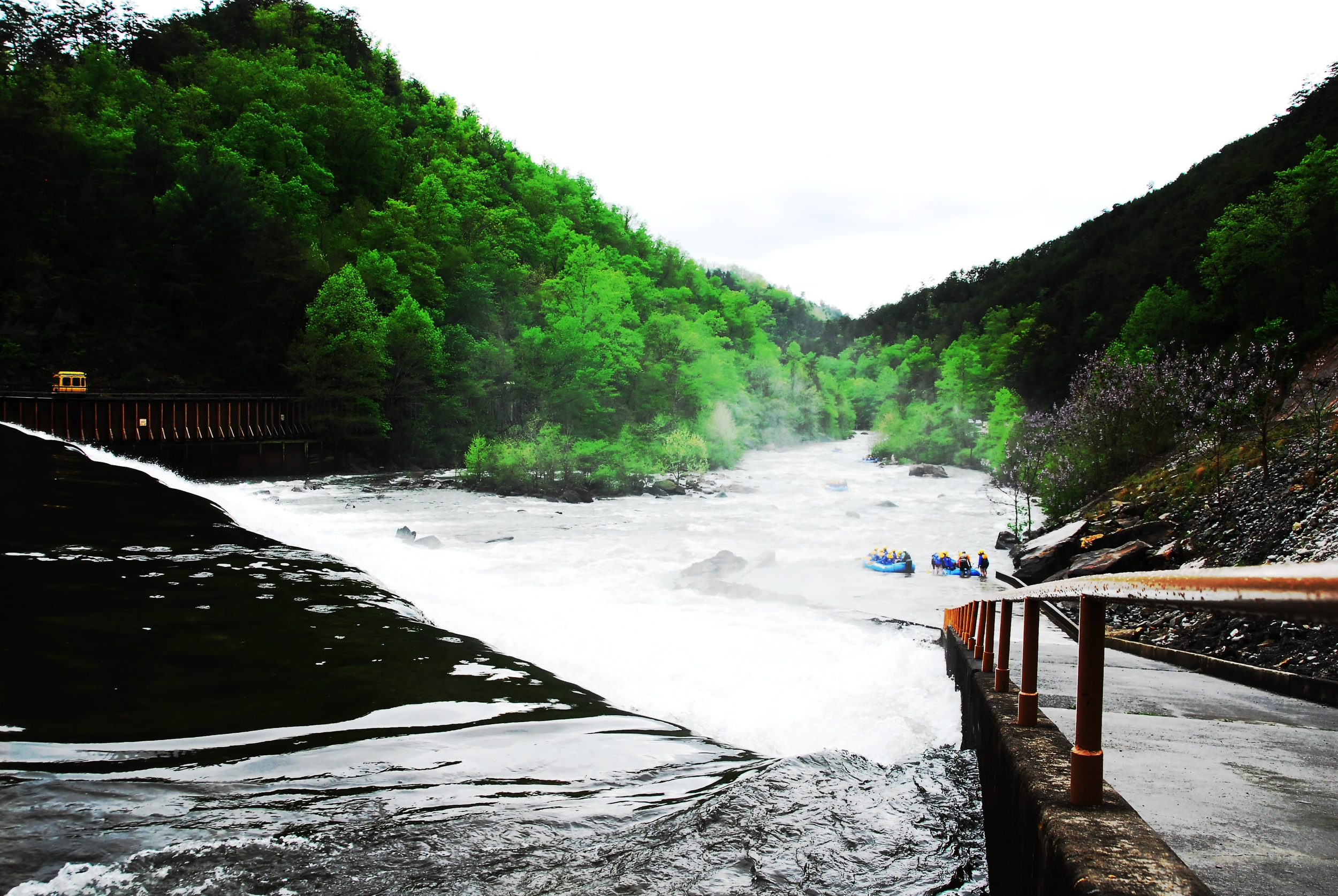 Overlooking the Middle Ocoee River Dam