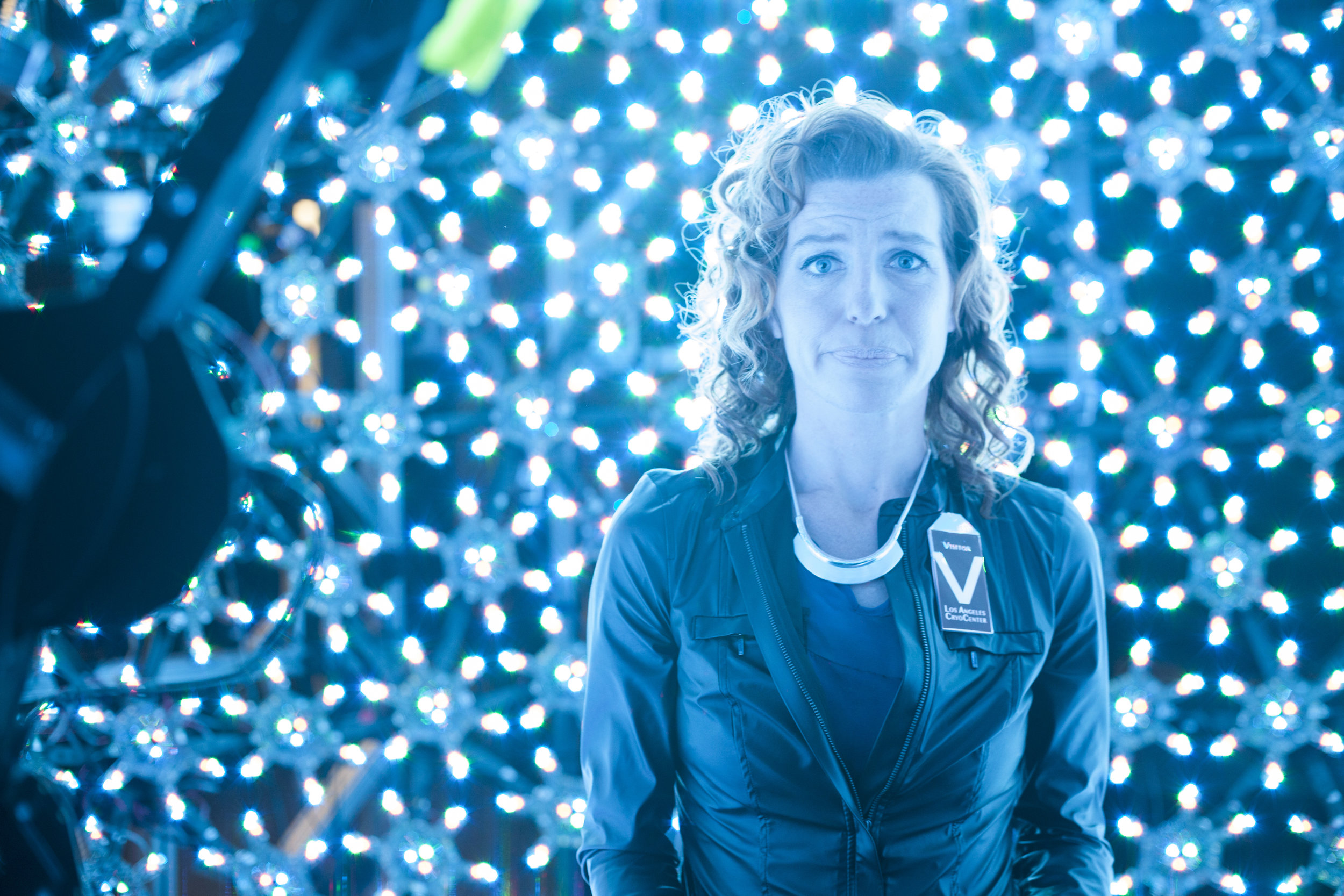 (BTS Series) (Producer Tanna Frederick as Beverly Perez inside the USC ICT's Lightstage) (Photo Matt LaCorte).jpg