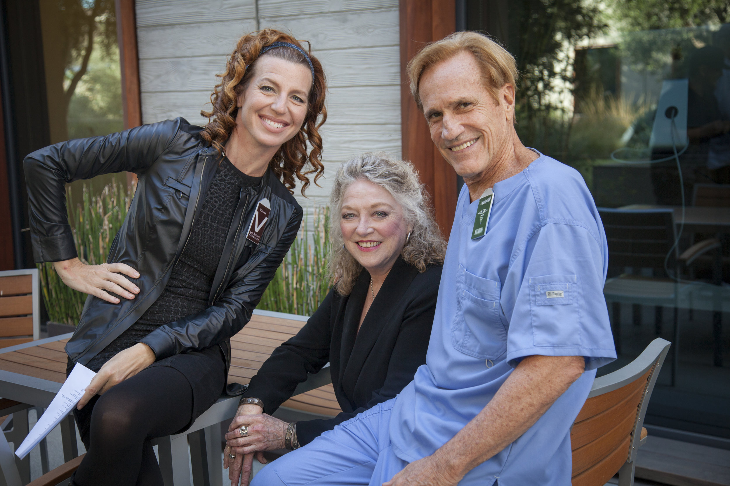 (BTS Series) (Actresses Tanna Frederick and Veronica Cartwright with director Randal Kleiser).jpg